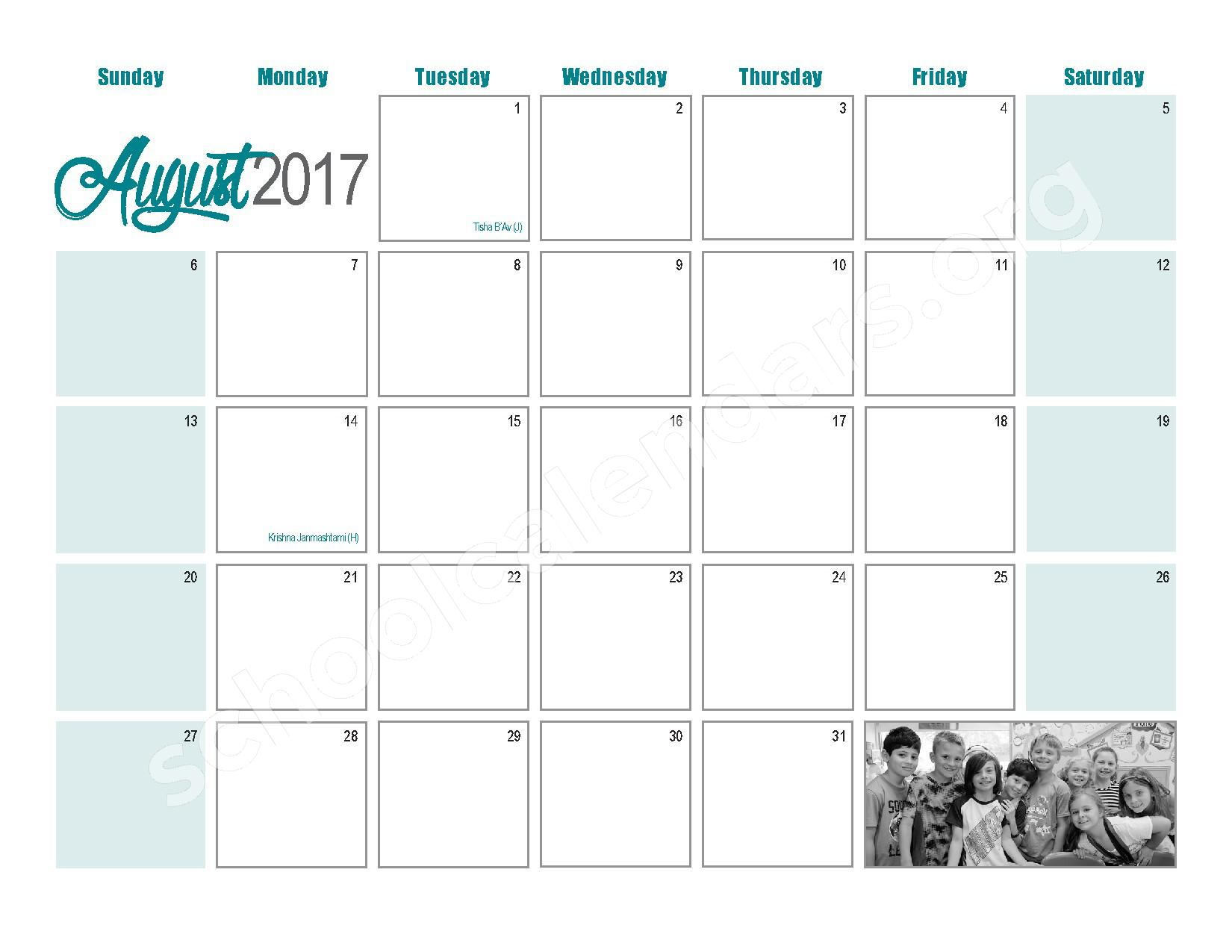 2016 - 2017  District Calendar – Maple West Elementary School – page 25