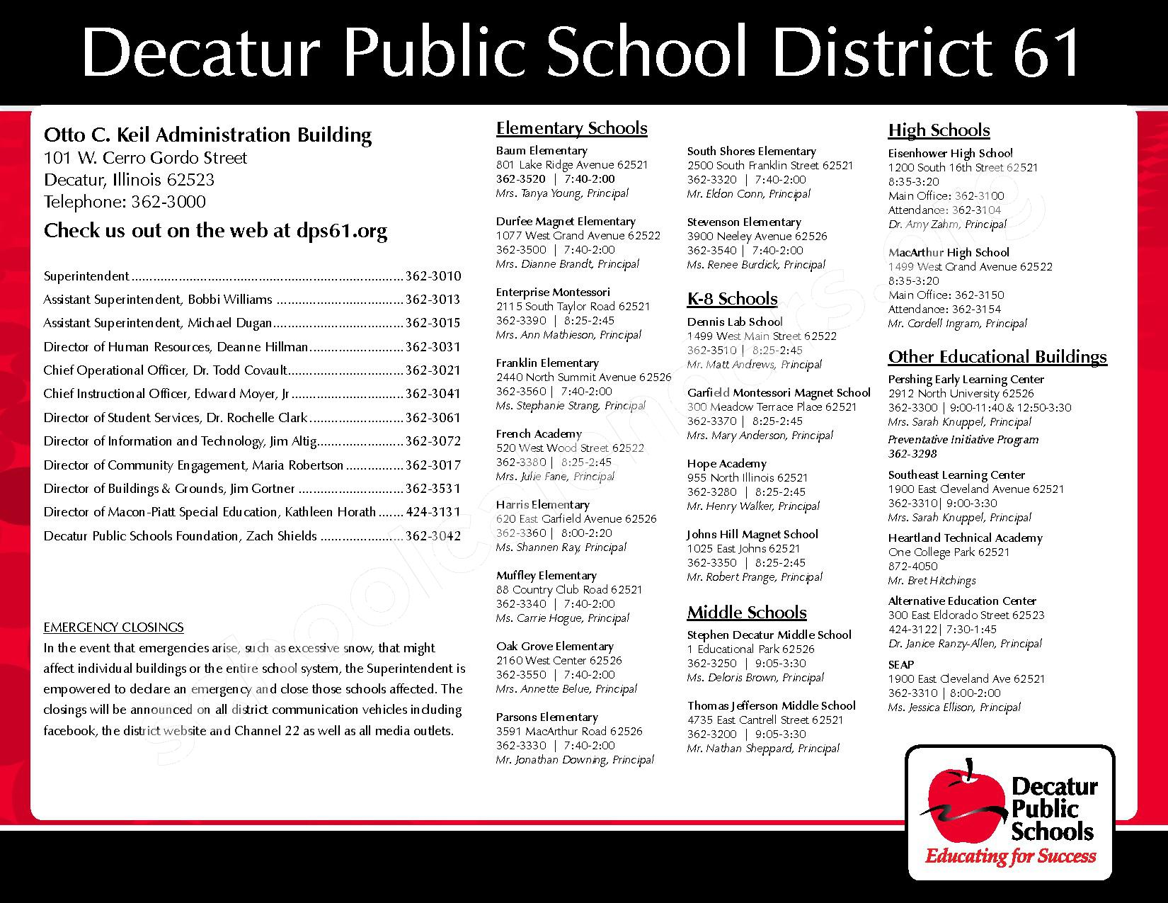 2016 - 2017 District Calendar – Michael E Baum Elementary School – page 32
