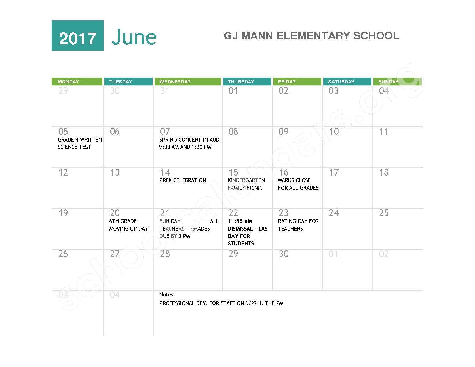 2016 - 2017  District Calendar – Niagara Falls High School – page 10