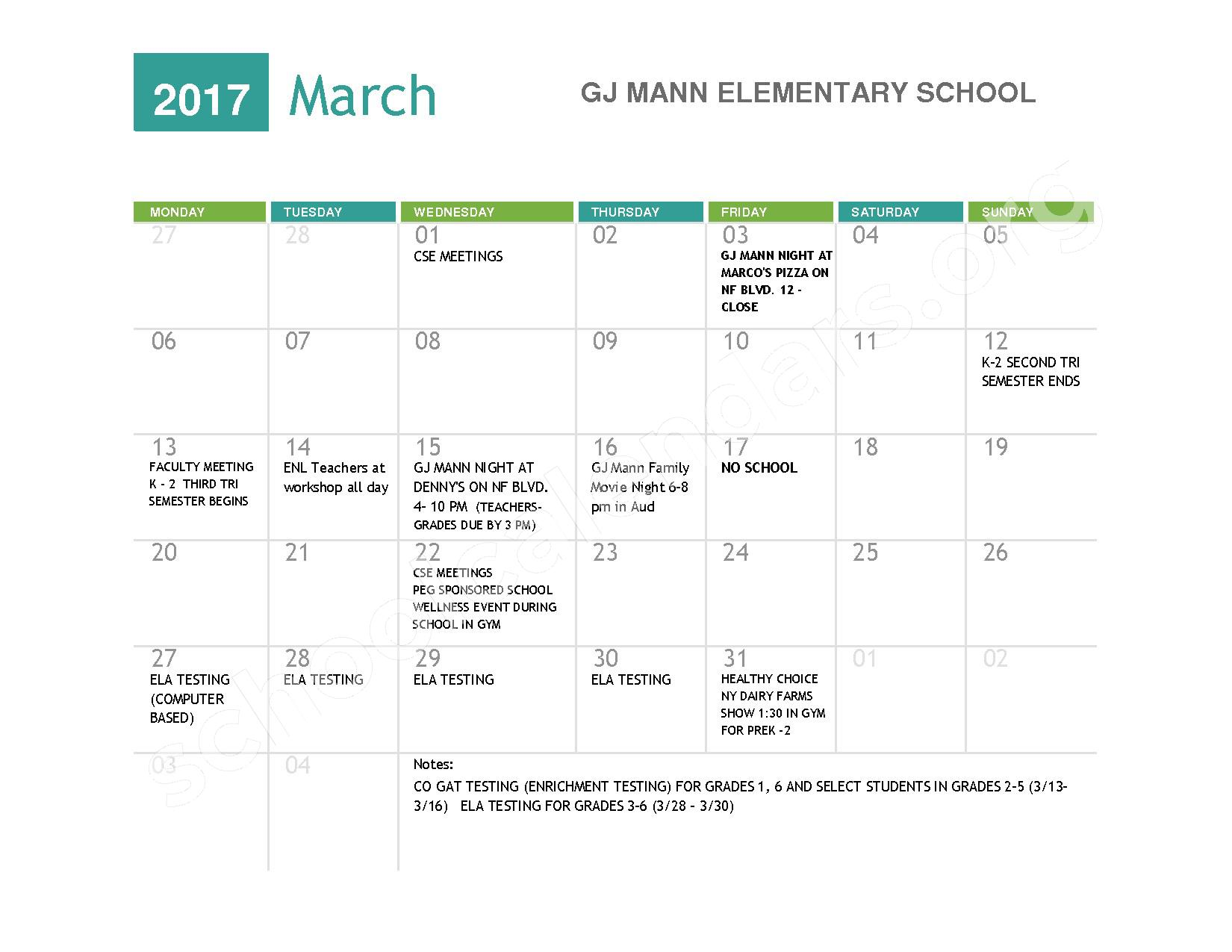2016 - 2017  District Calendar – Niagara Falls High School – page 7