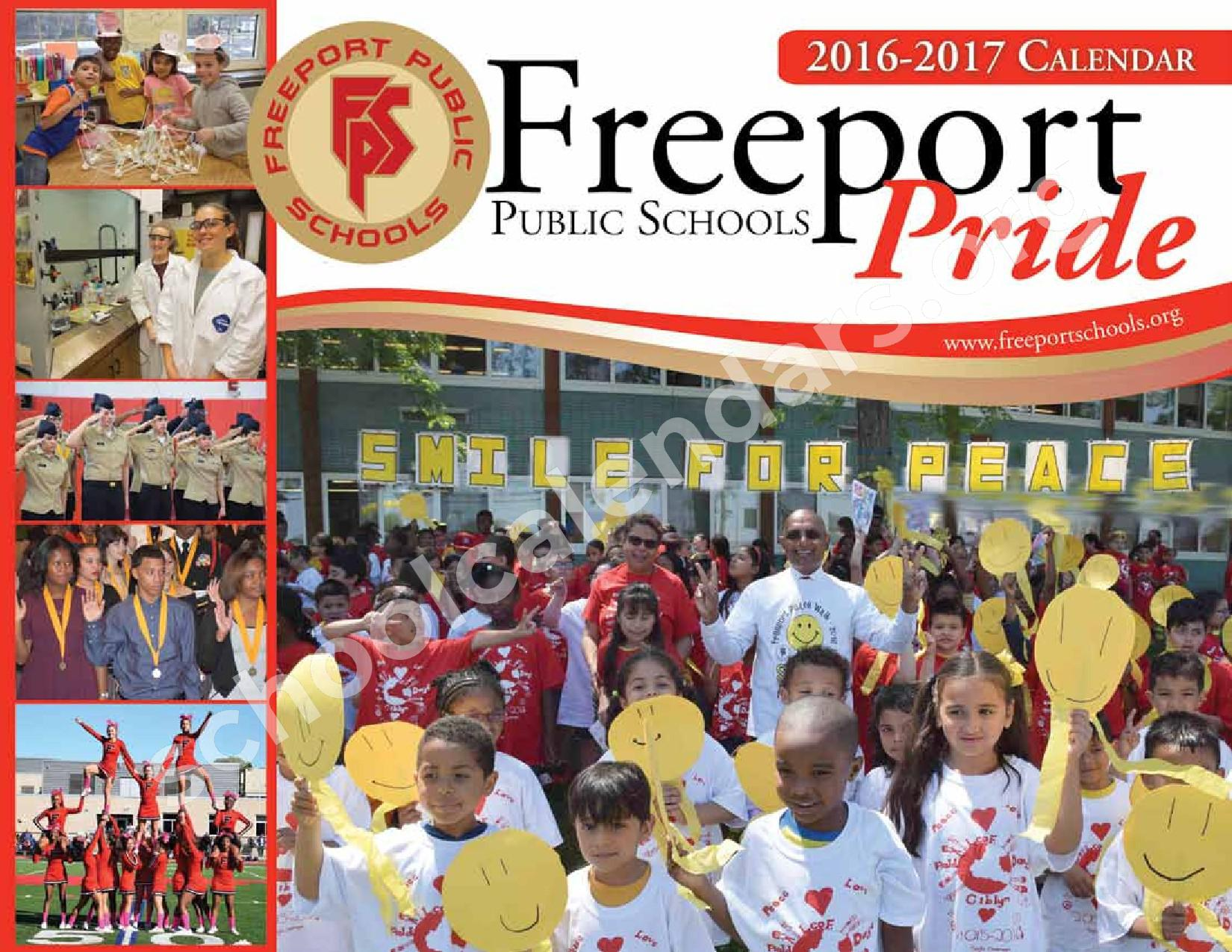 2016 - 2017 District Events Calendar & Handbook – Freeport Union Free School District – page 1