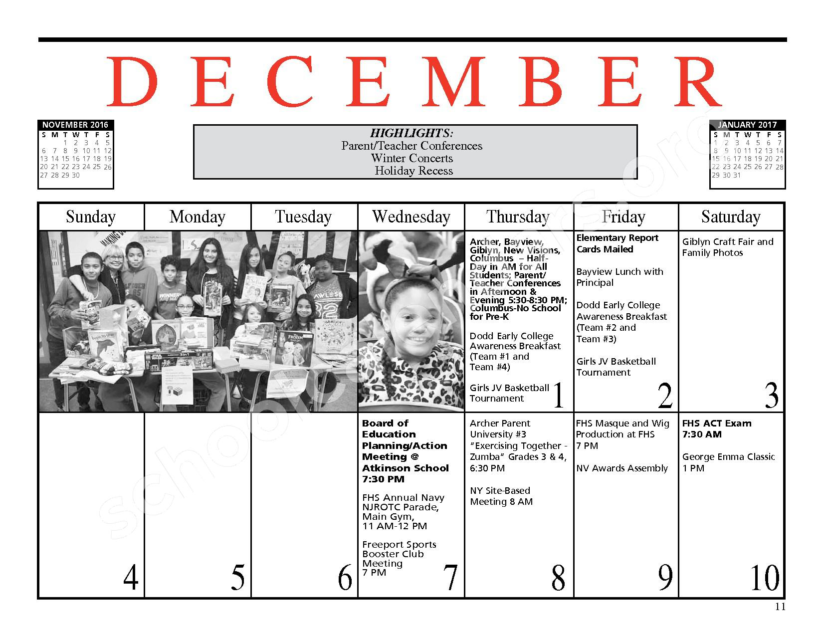 2016 - 2017 District Events Calendar & Handbook – Freeport Union Free School District – page 12