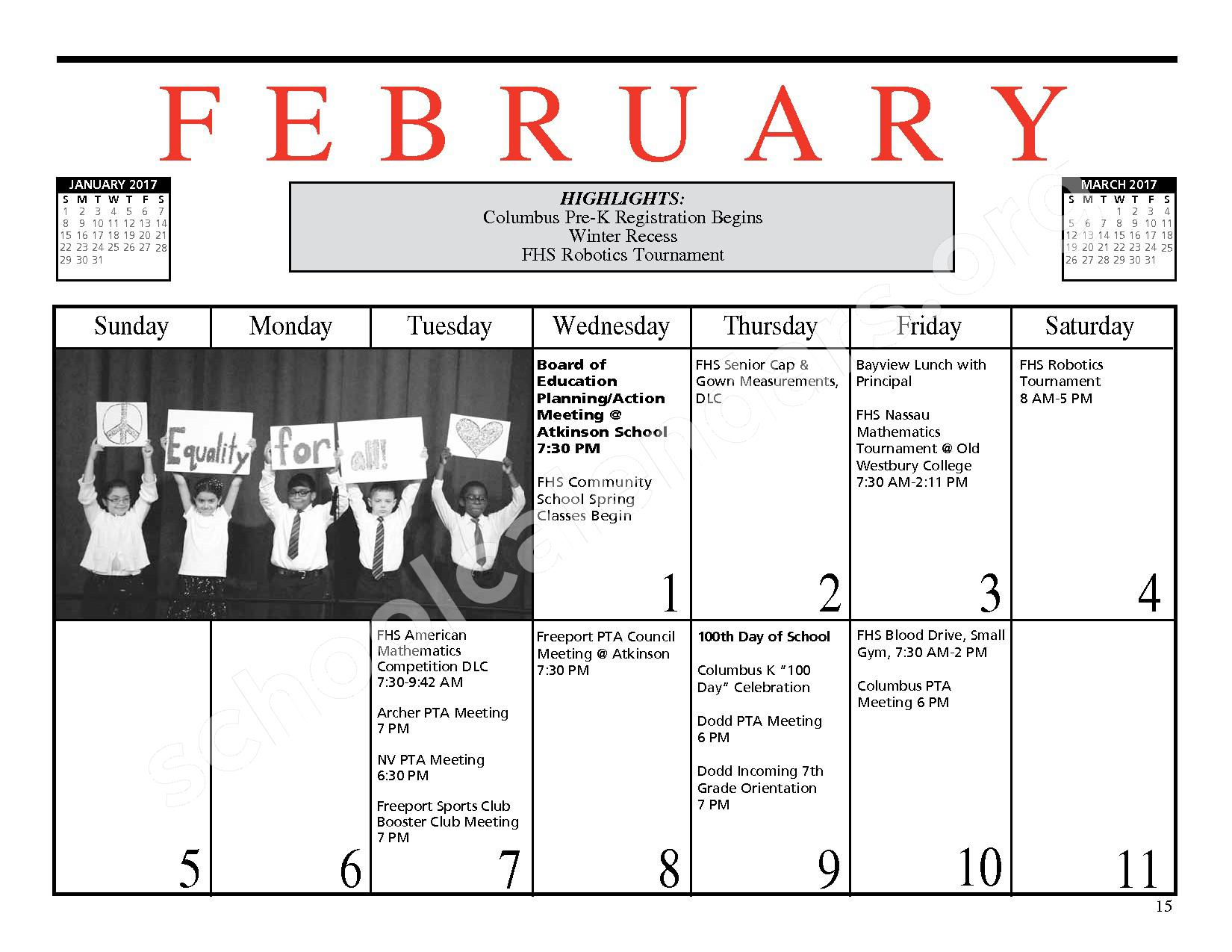2016 - 2017 District Events Calendar & Handbook – Freeport Union Free School District – page 16