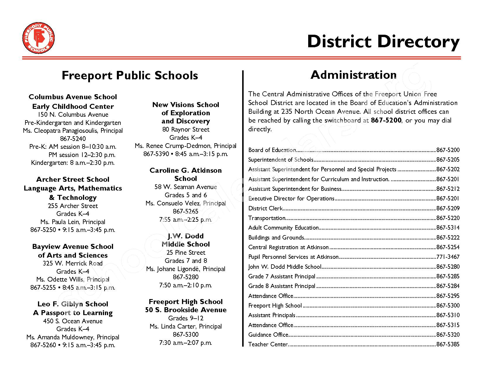 2016 - 2017 District Events Calendar & Handbook – Freeport Union Free School District – page 35
