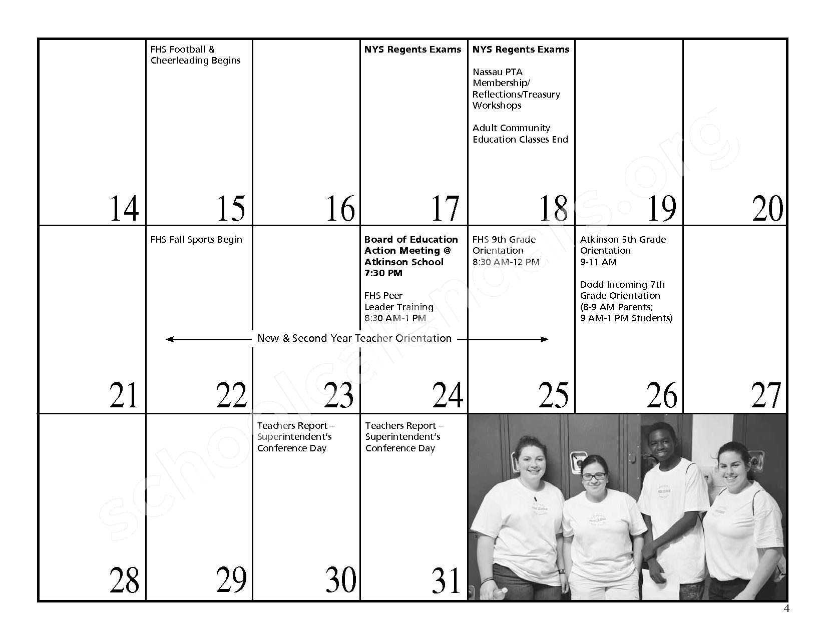 2016 - 2017 District Events Calendar & Handbook – Freeport Union Free School District – page 5
