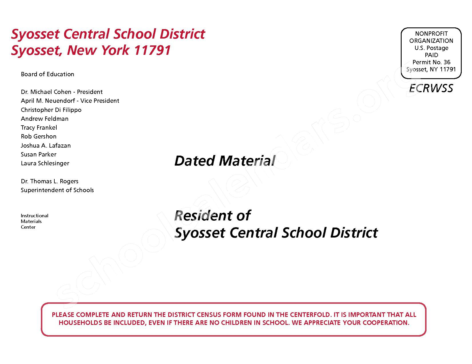 2016 - 2017 District Calendar – Syosset Central School District – page 44