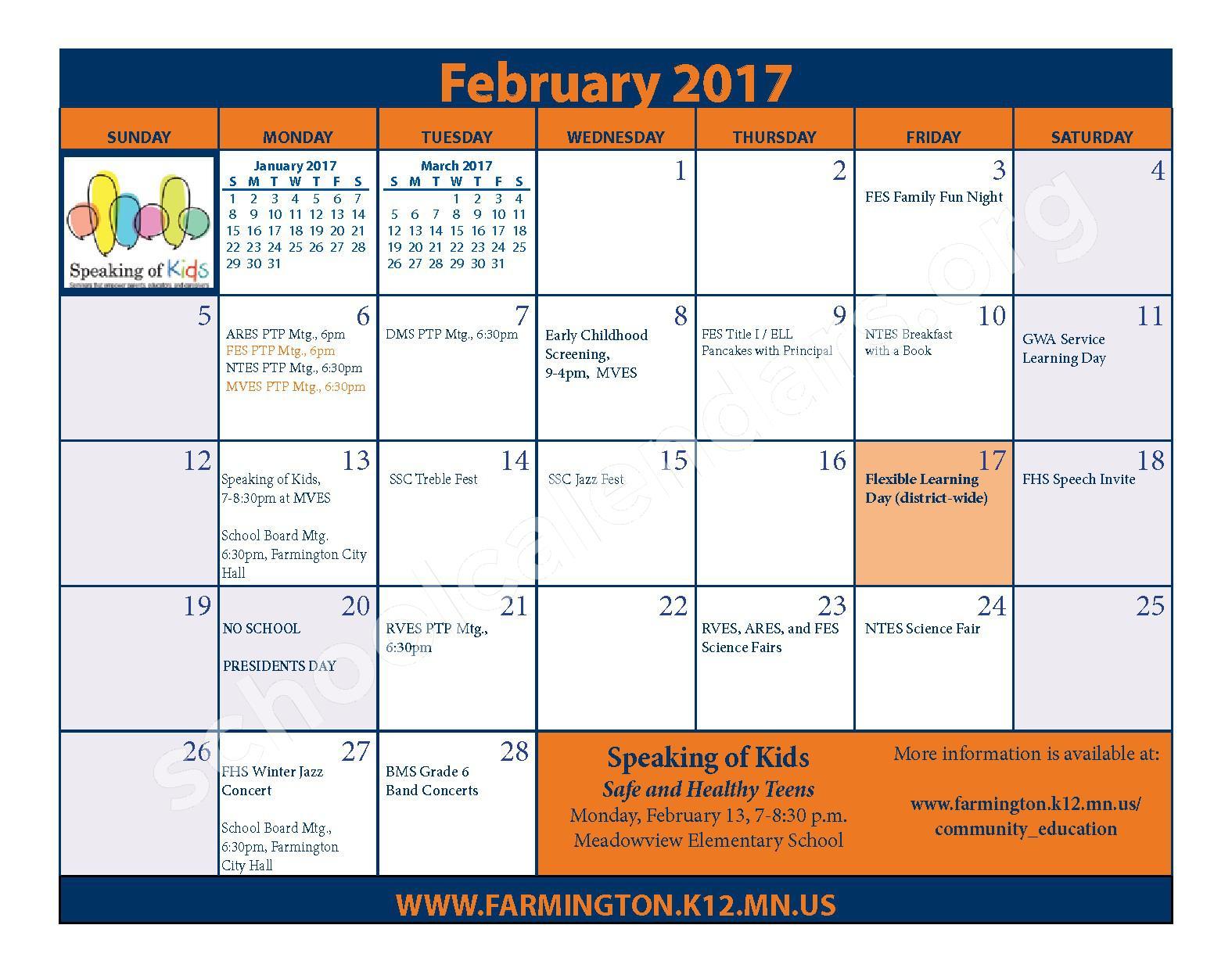 2016 - 2017 District Calendar & Handbook – Farmington Public School District – page 17