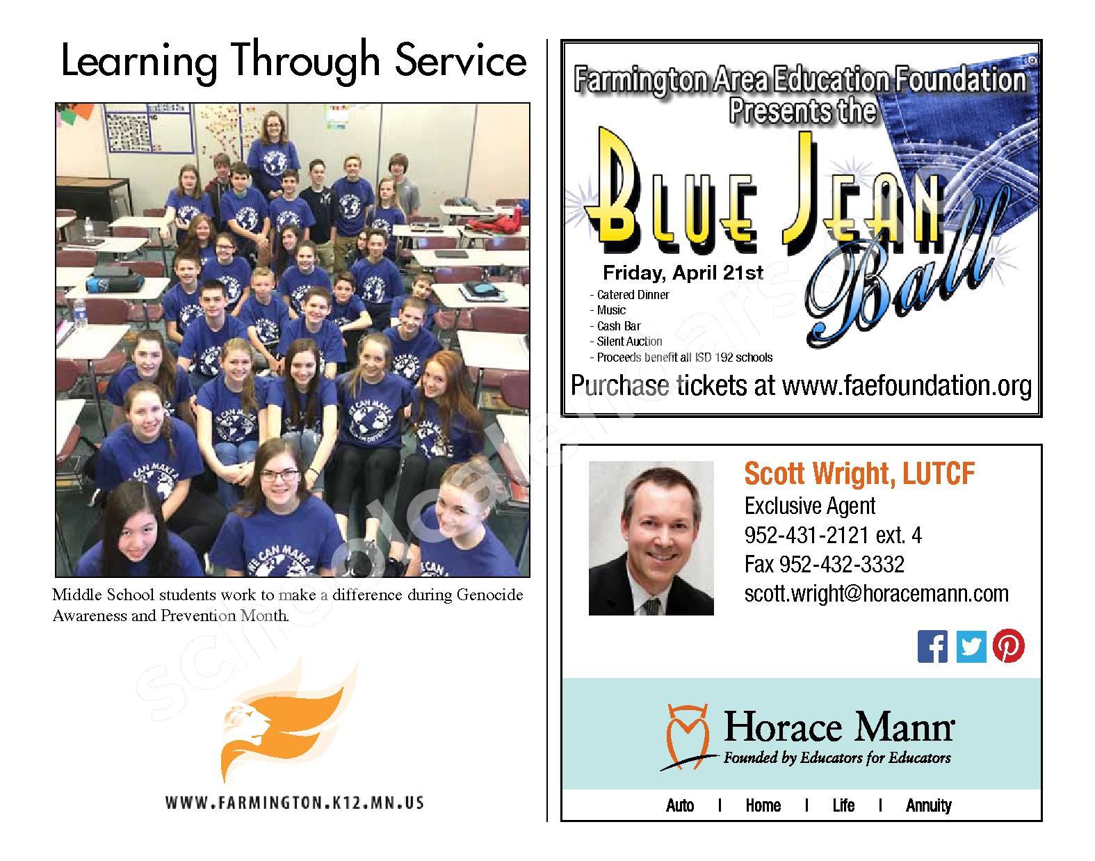 2016 - 2017 District Calendar & Handbook – Farmington Public School District – page 20