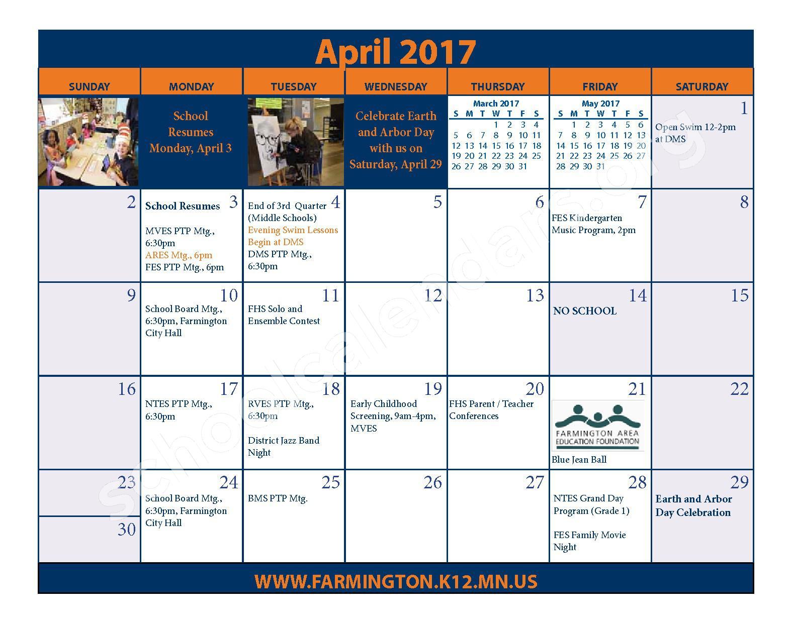 2016 - 2017 District Calendar & Handbook – Farmington Public School District – page 21