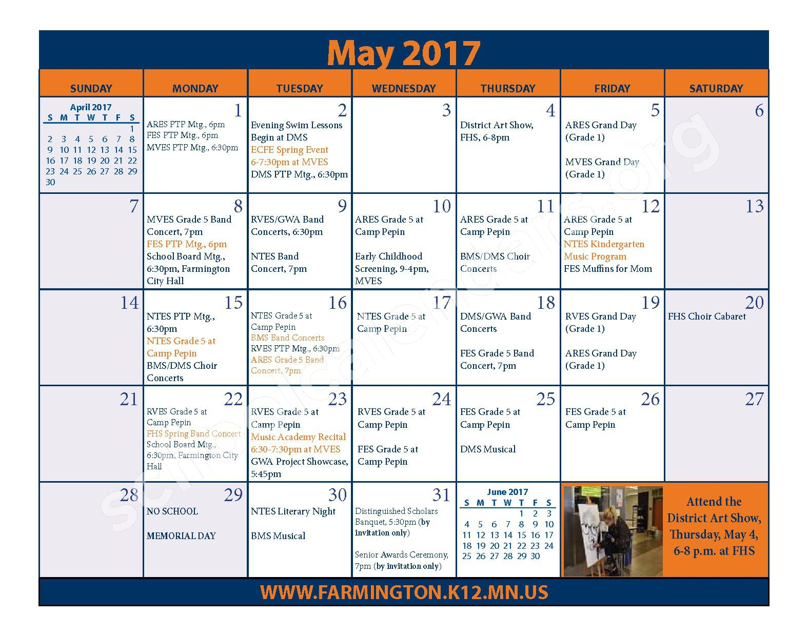 2016 - 2017 District Calendar & Handbook – Farmington Public School District – page 23