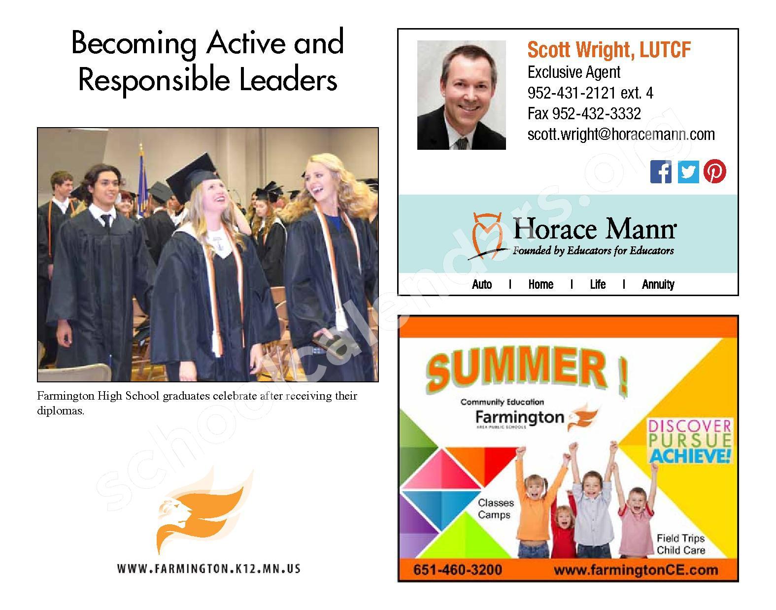 2016 - 2017 District Calendar & Handbook – Farmington Public School District – page 24