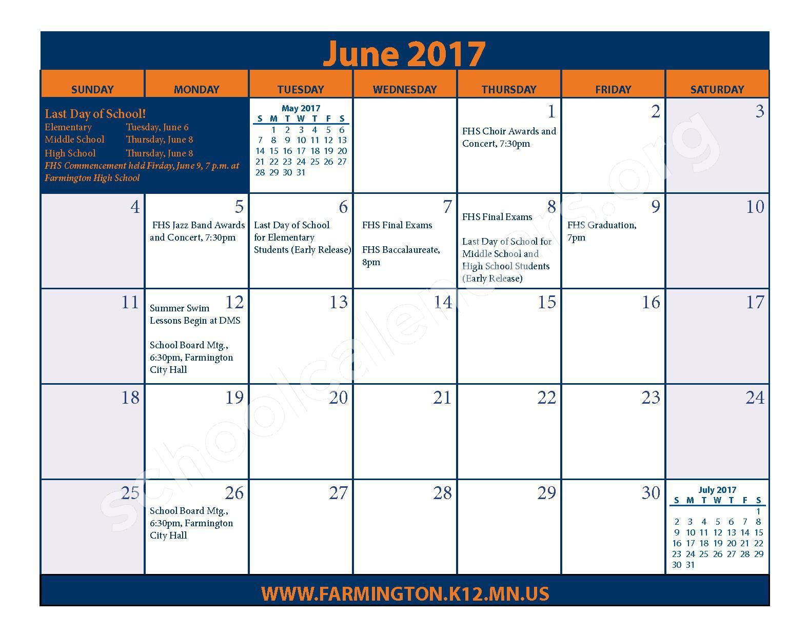 2016 - 2017 District Calendar & Handbook – Farmington Public School District – page 25