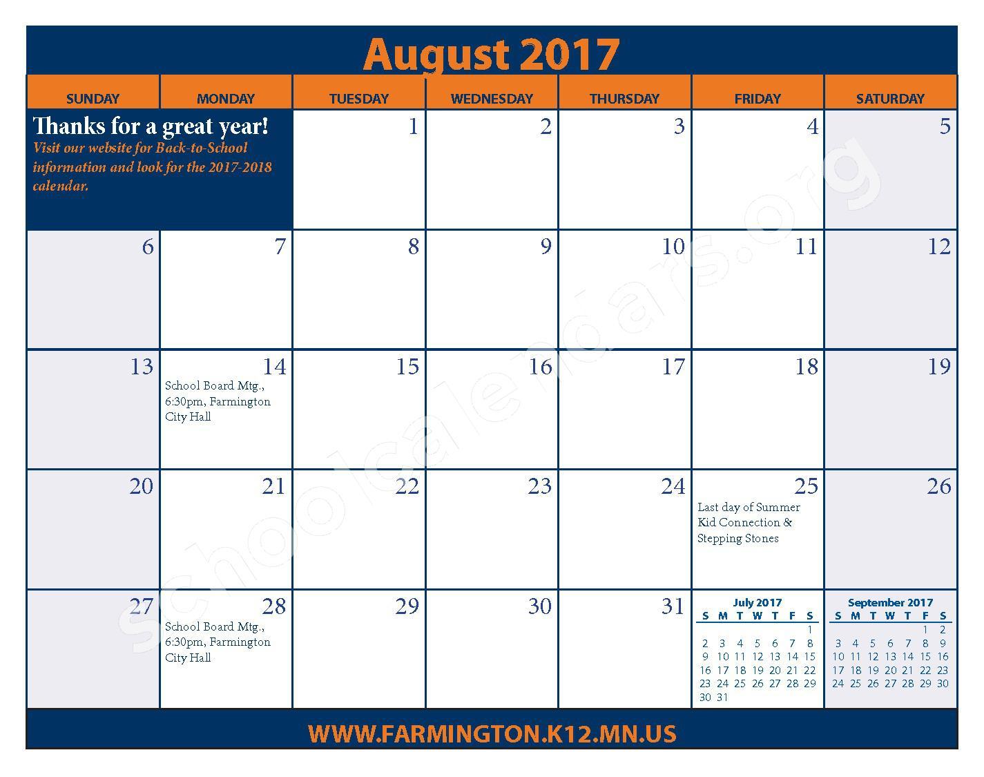2016 - 2017 District Calendar & Handbook – Farmington Public School District – page 27