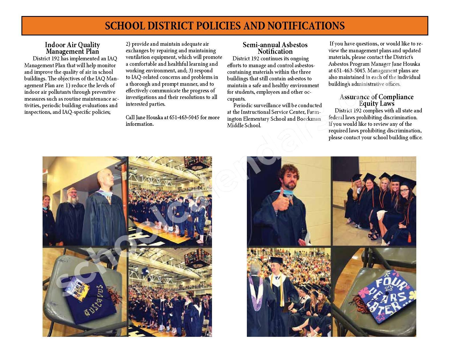 2016 - 2017 District Calendar & Handbook – Farmington Public School District – page 29