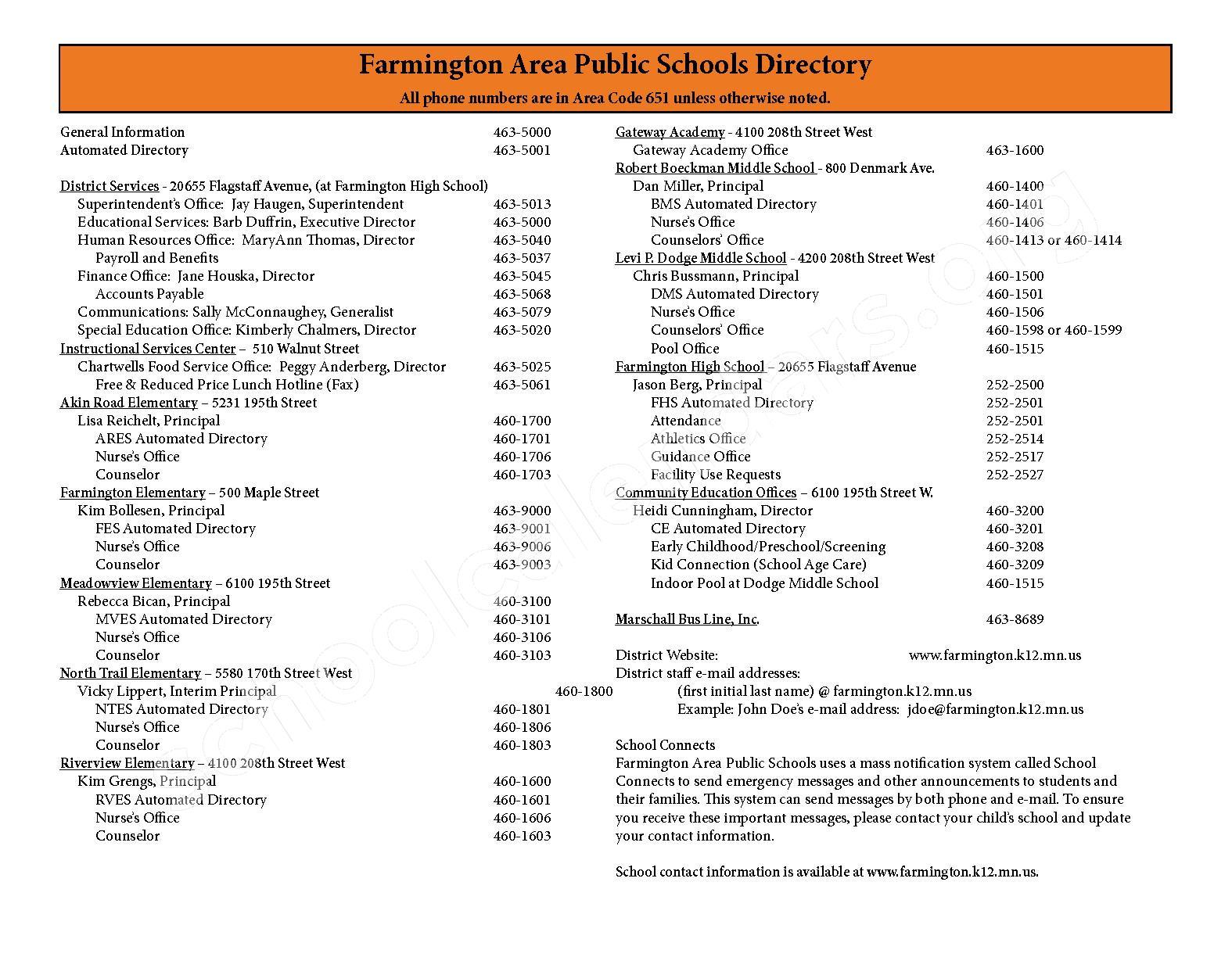 2016 - 2017 District Calendar & Handbook – Farmington Public School District – page 31
