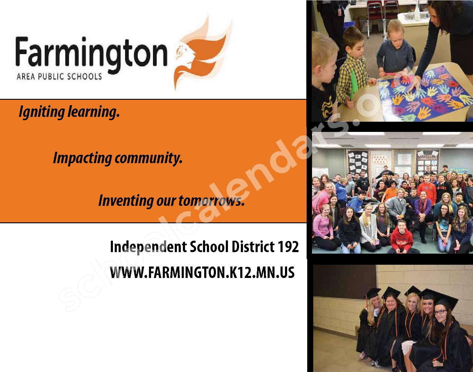 2016 - 2017 District Calendar & Handbook – Farmington Public School District – page 32