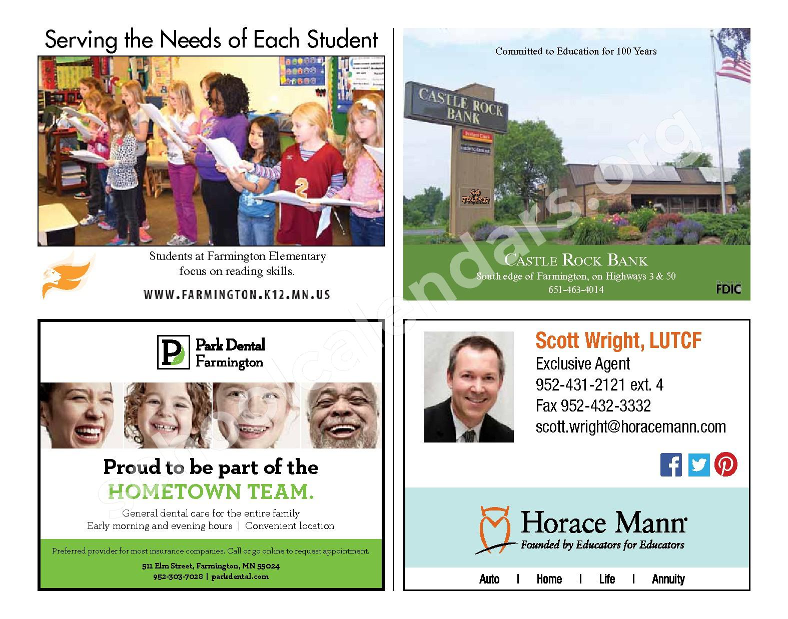 2016 - 2017 District Calendar & Handbook – Farmington Public School District – page 6