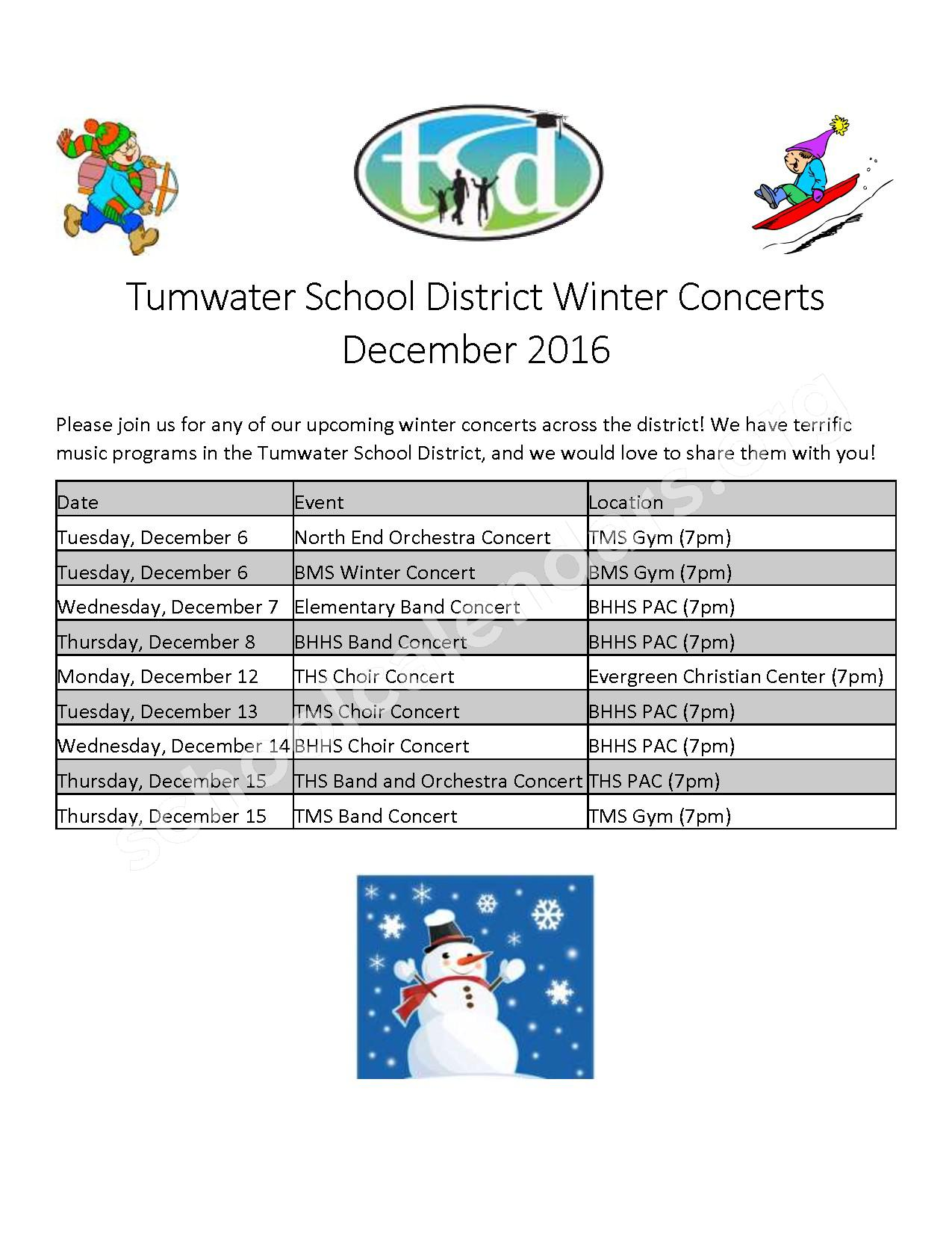 Music Events Calendar – Tumwater School District – page 1