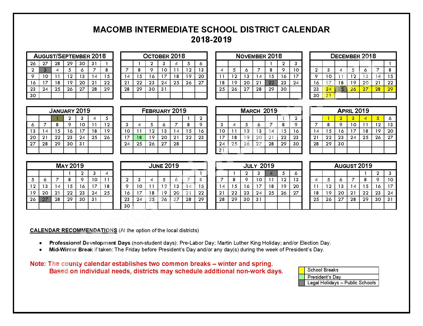 2016 - 2017 School Calendars – Roseville Community Schools – page 3
