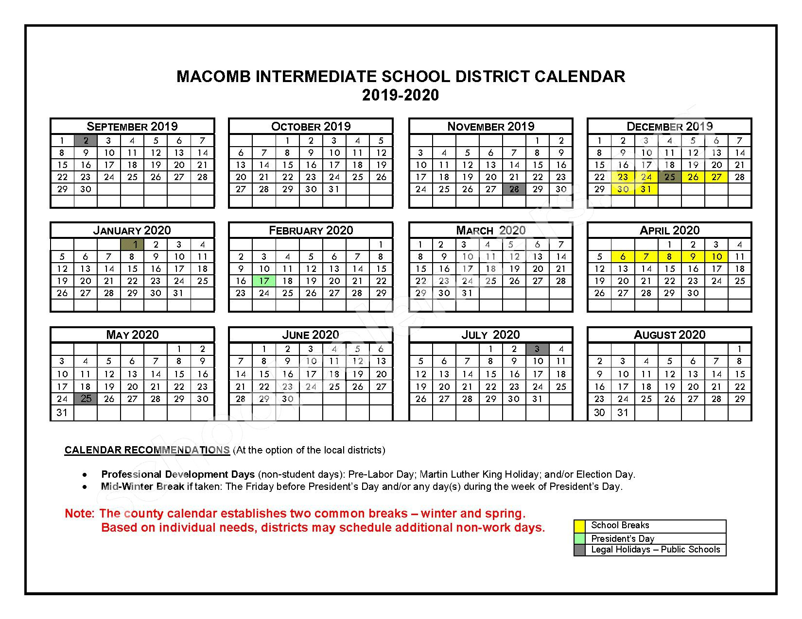 2016 - 2017 School Calendars – Roseville Community Schools – page 4