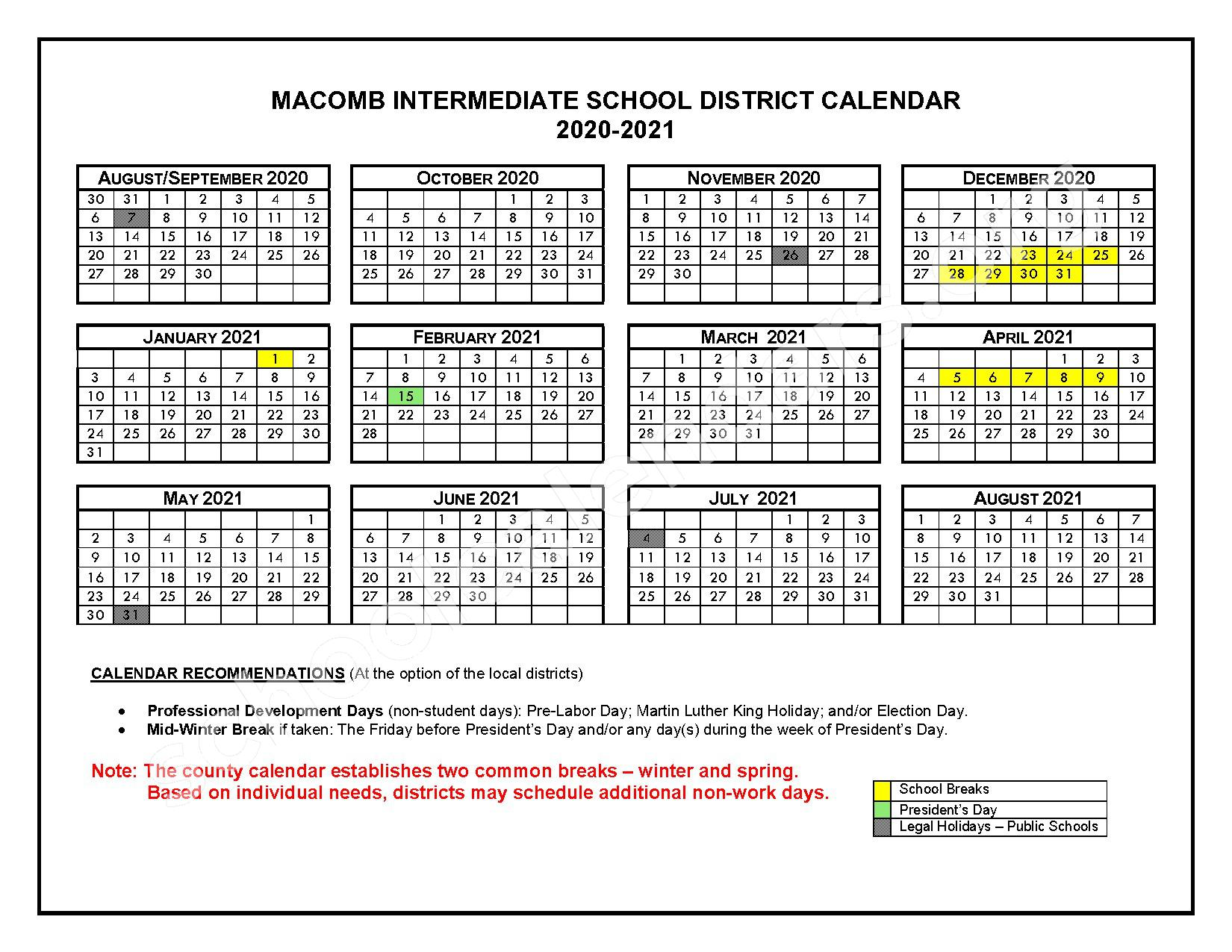 2016 - 2017 School Calendars – Roseville Community Schools – page 5