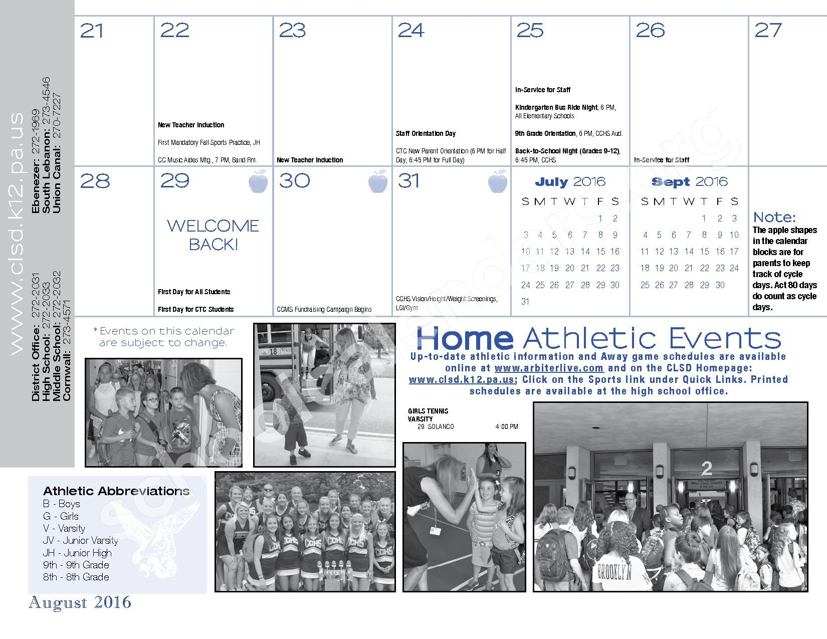 2016 - 2017  District Calendar – Cornwall-Lebanon School District – page 13