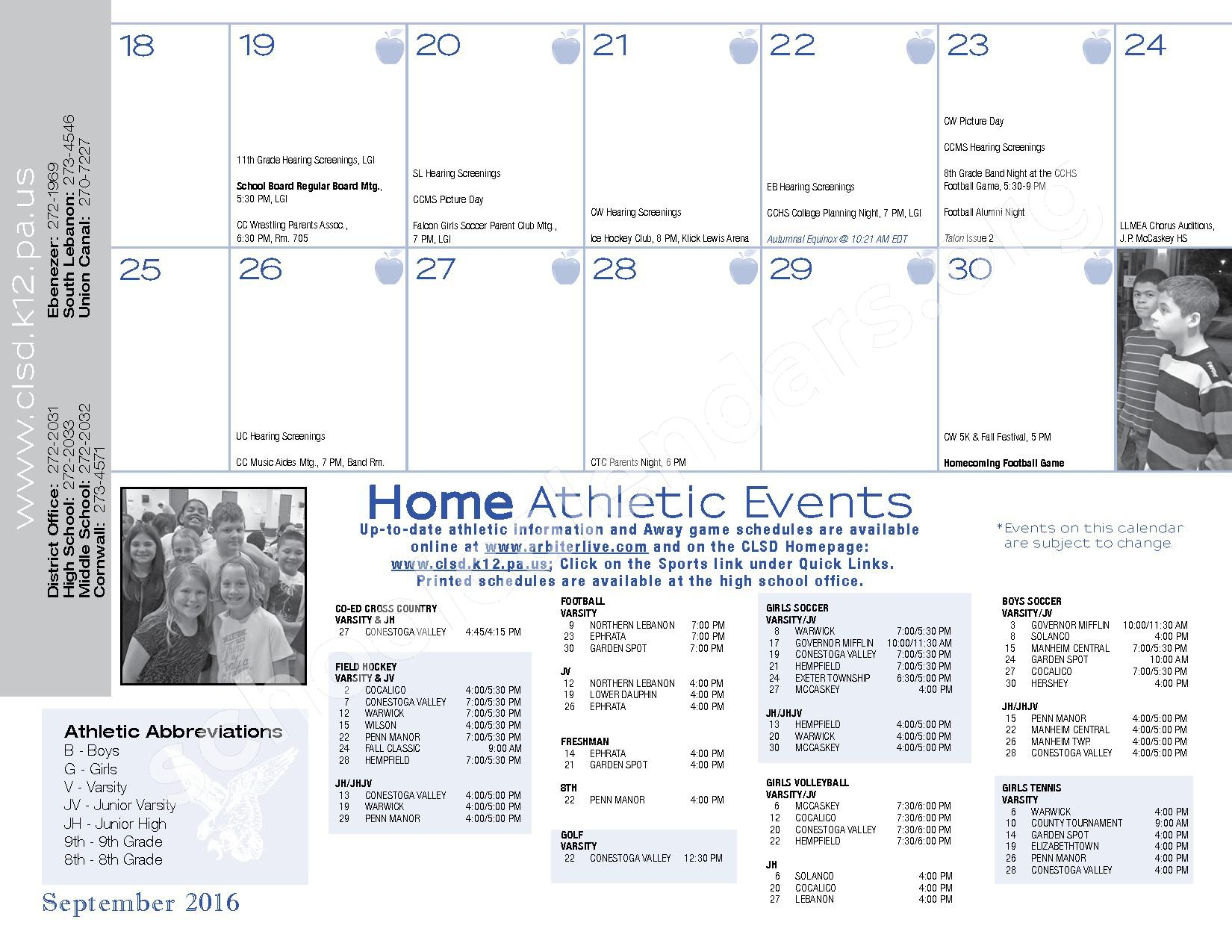 2016 - 2017  District Calendar – Cornwall-Lebanon School District – page 15