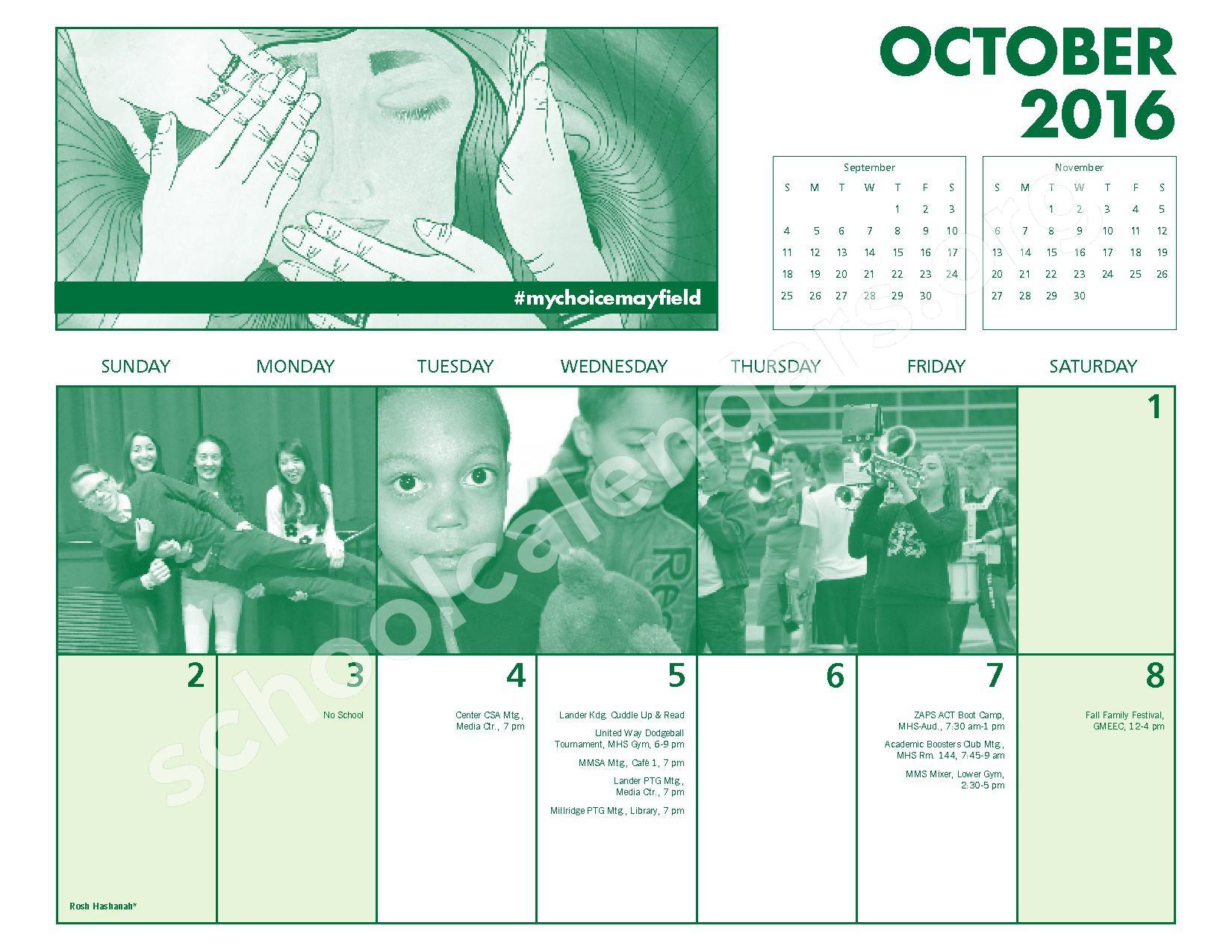 2016 - 2017 Mayfield Activities Calendar – Mayfield City Schools – page 10