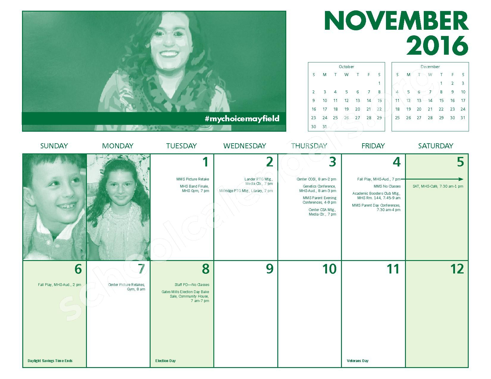 2016 - 2017 Mayfield Activities Calendar – Mayfield City Schools – page 12