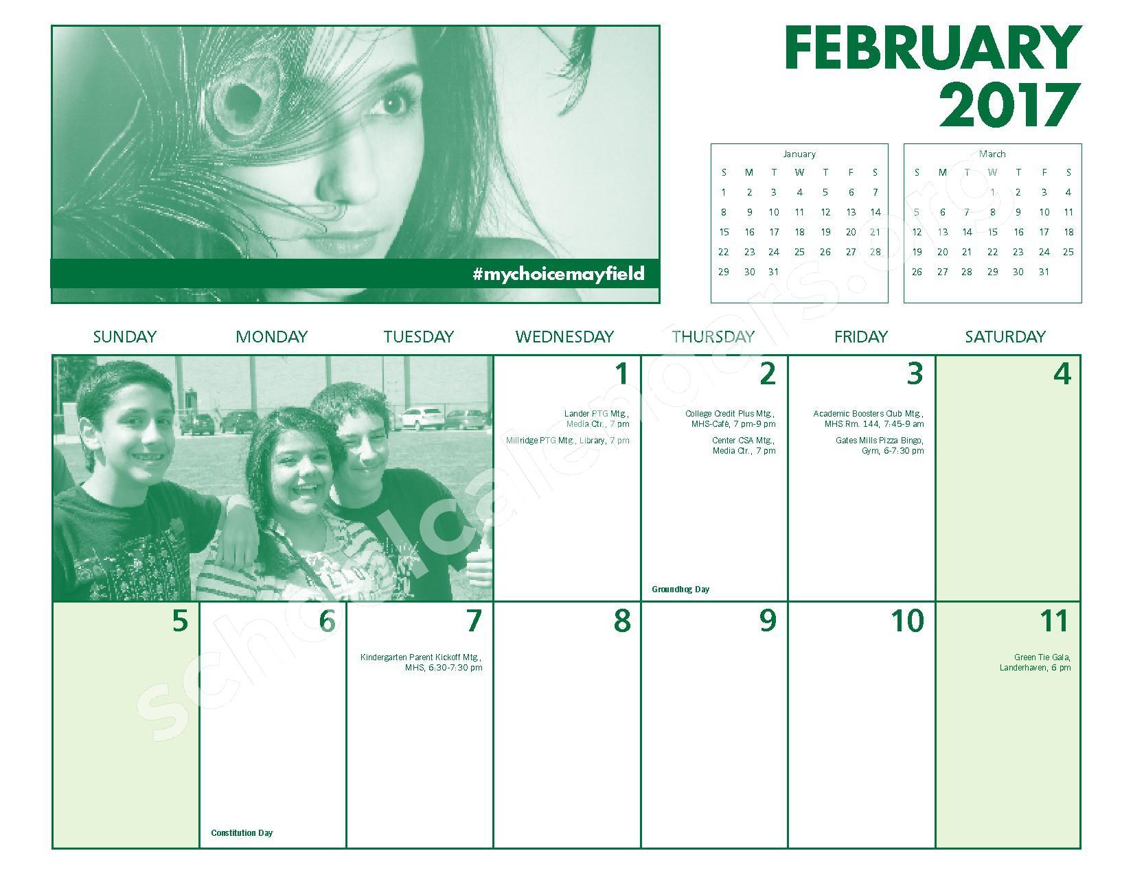 2016 - 2017 Mayfield Activities Calendar – Mayfield City Schools – page 18