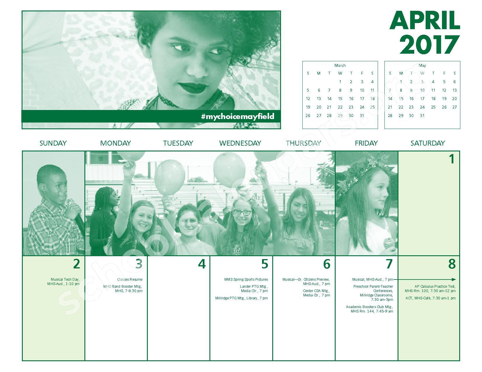 2016 - 2017 Mayfield Activities Calendar – Mayfield City Schools – page 22