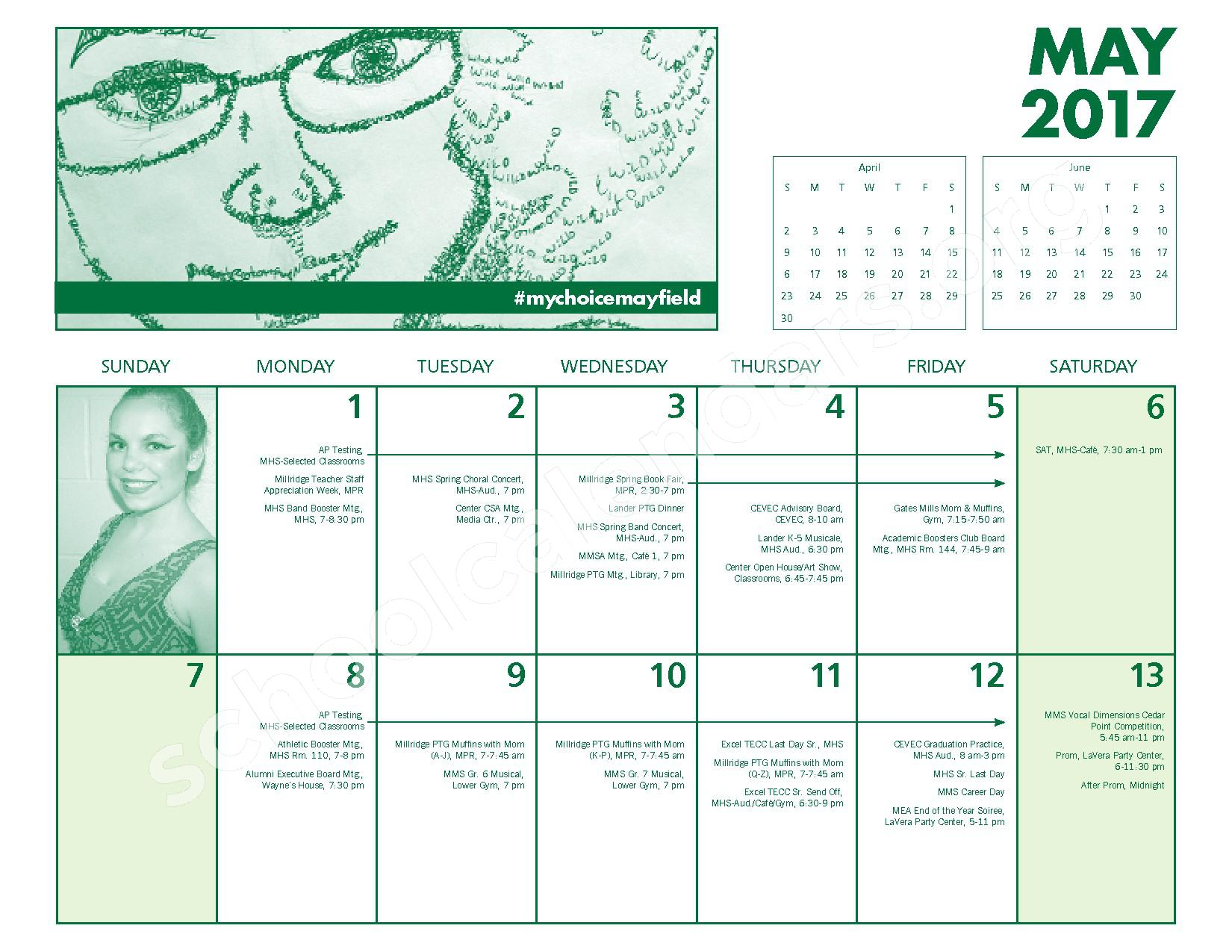 2016 - 2017 Mayfield Activities Calendar – Mayfield City Schools – page 24