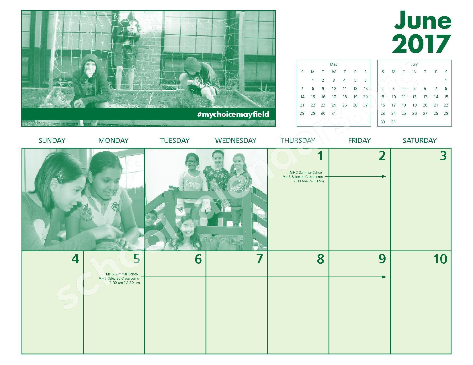 2016 - 2017 Mayfield Activities Calendar – Mayfield City Schools – page 26