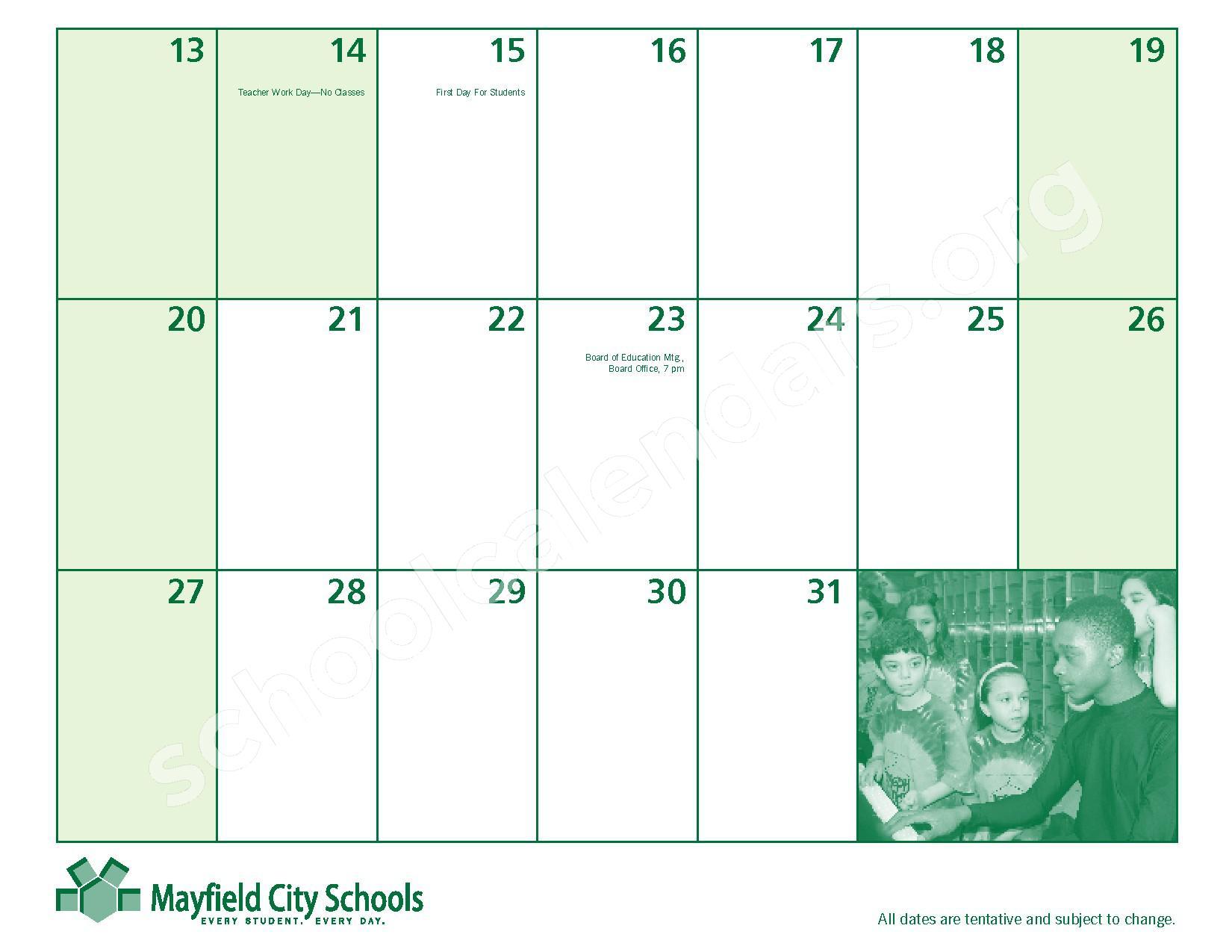 2016 - 2017 Mayfield Activities Calendar – Mayfield City Schools – page 31