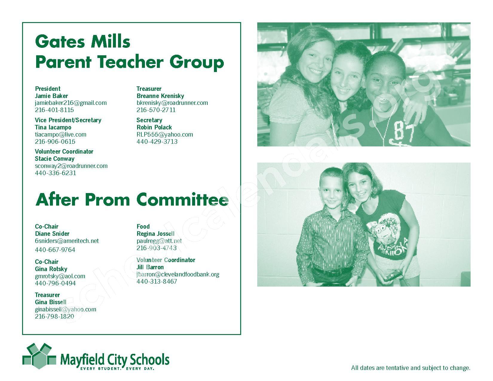 2016 - 2017 Mayfield Activities Calendar – Mayfield City Schools – page 33