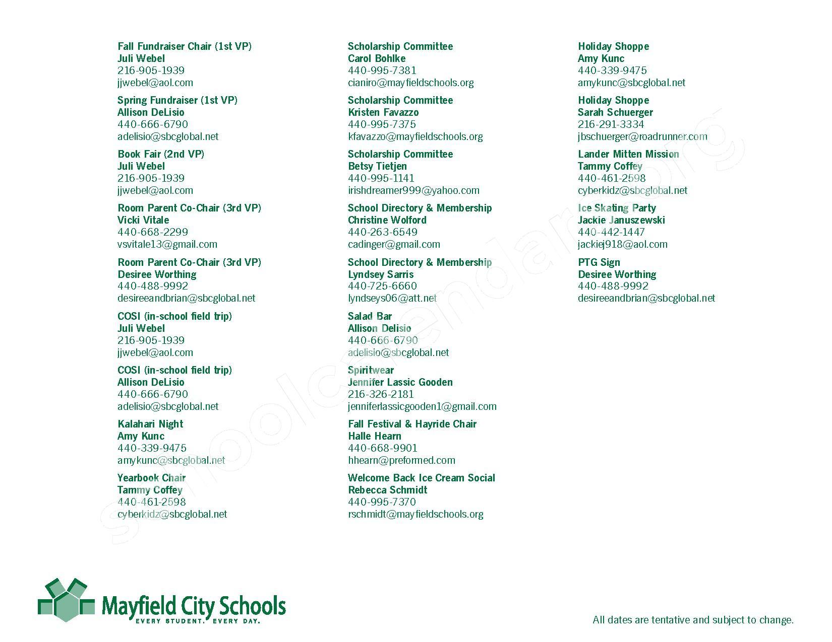 2016 - 2017 Mayfield Activities Calendar – Mayfield City Schools – page 35