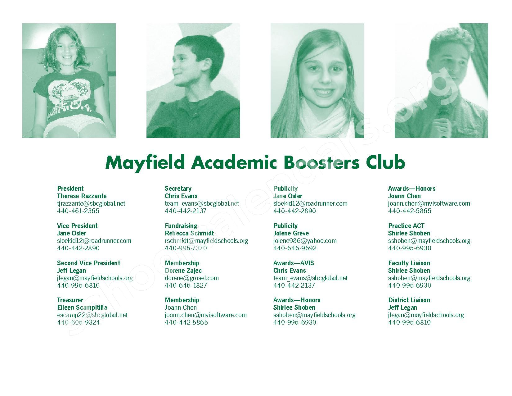 2016 - 2017 Mayfield Activities Calendar – Mayfield City Schools – page 36