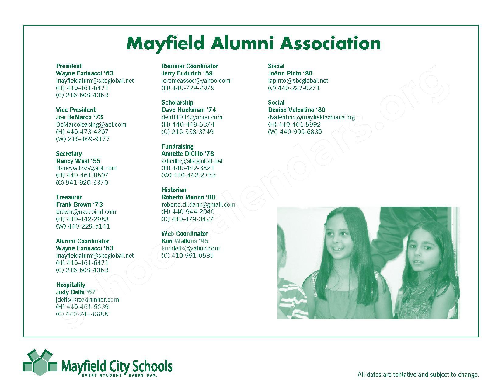 2016 - 2017 Mayfield Activities Calendar – Mayfield City Schools – page 37