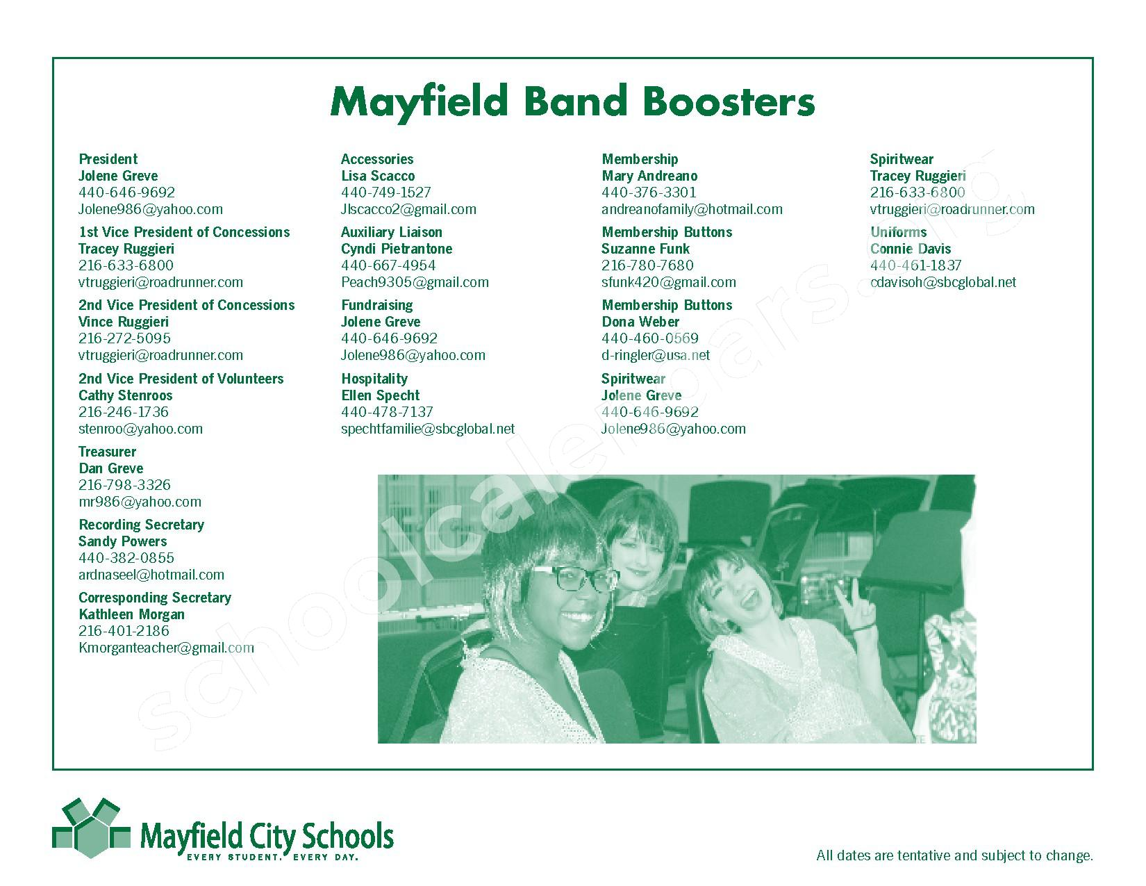 2016 - 2017 Mayfield Activities Calendar – Mayfield City Schools – page 39