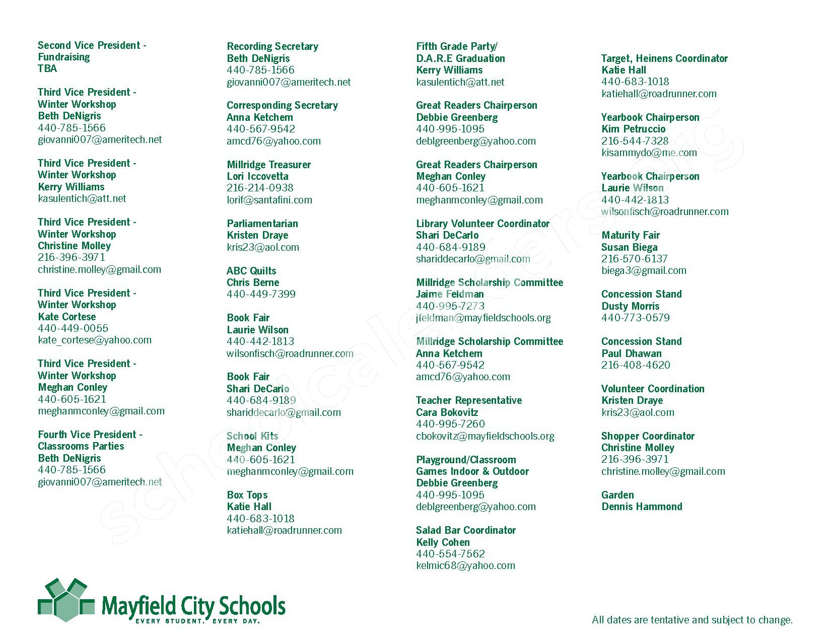 2016 - 2017 Mayfield Activities Calendar – Mayfield City Schools – page 43