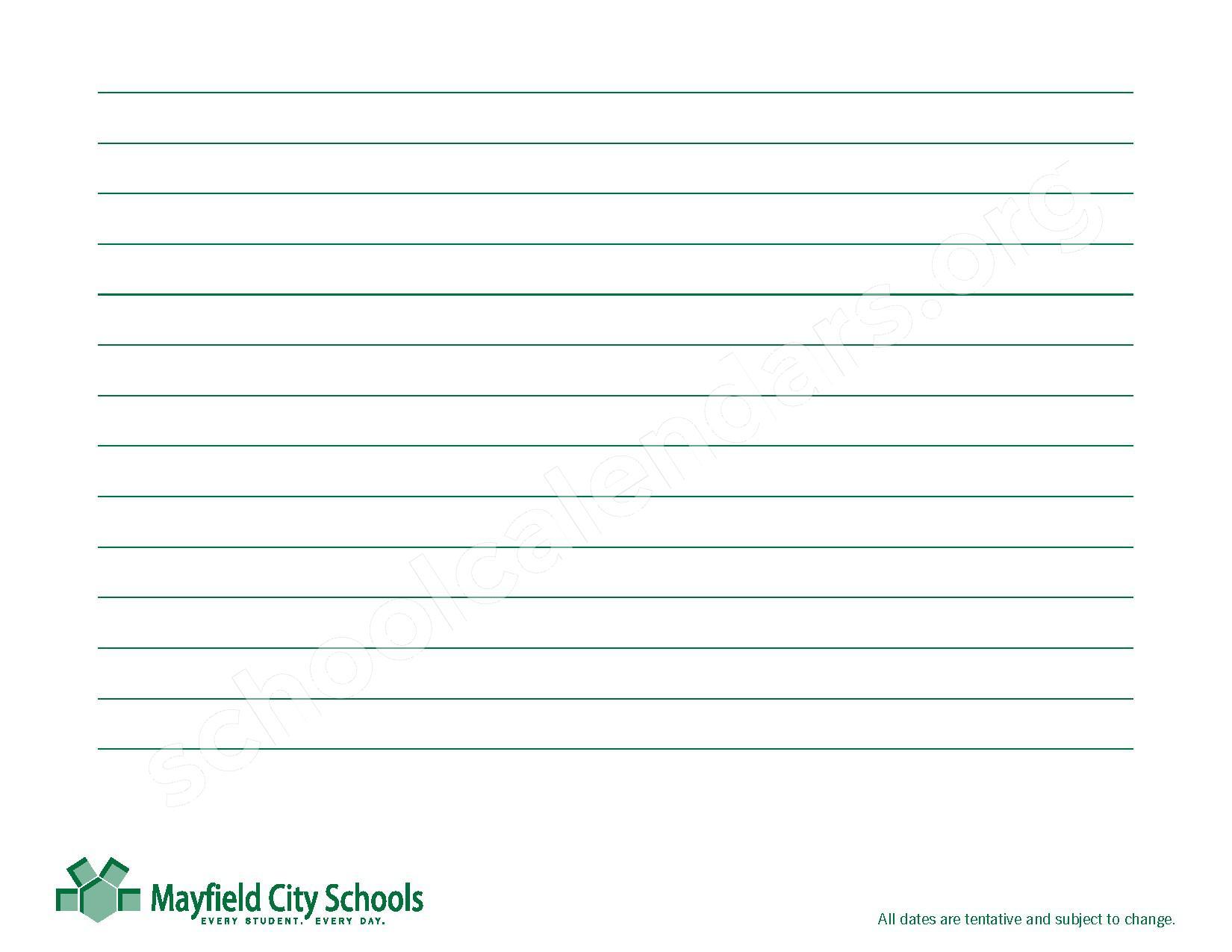 2016 - 2017 Mayfield Activities Calendar – Mayfield City Schools – page 45