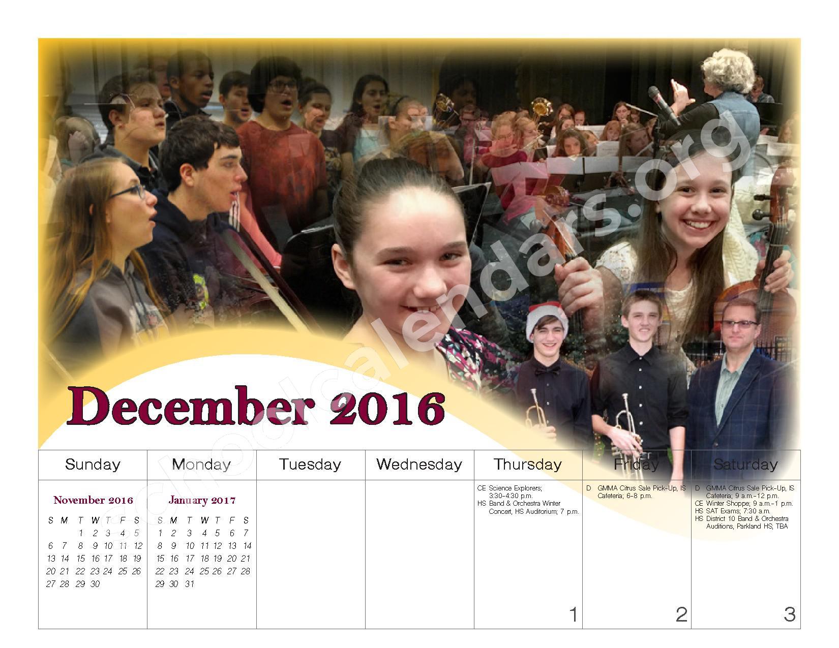 2016 - 2017 School Calendar – Governor Mifflin School District – page 11