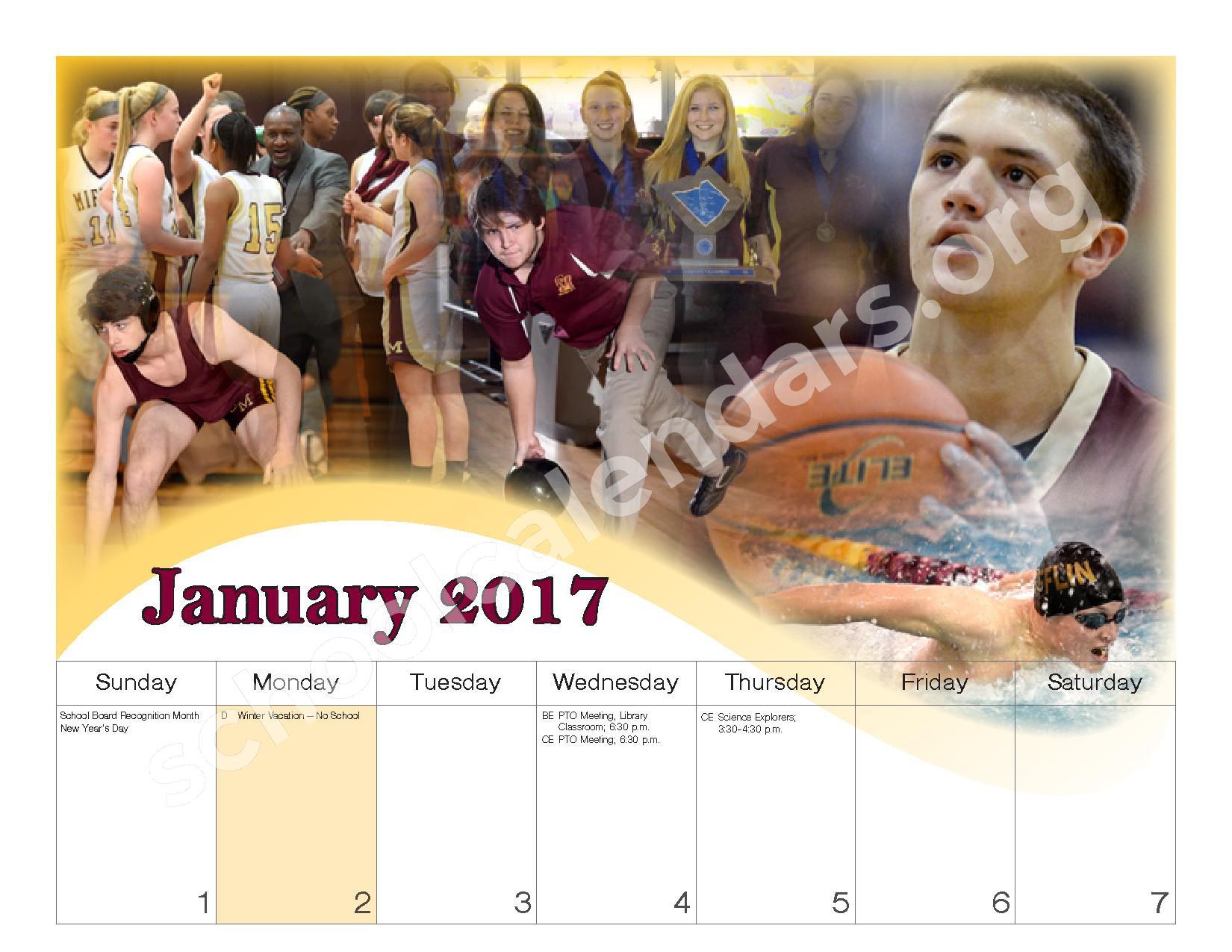2016 - 2017 School Calendar – Governor Mifflin School District – page 13