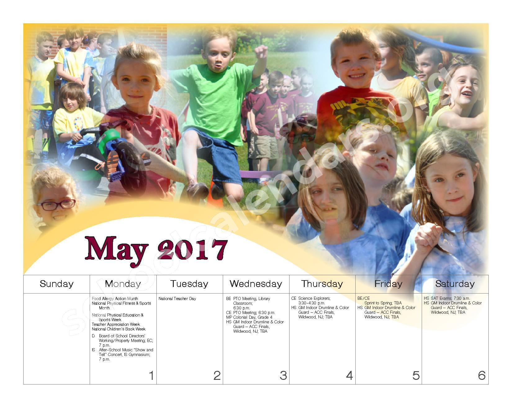 2016 - 2017 School Calendar – Governor Mifflin School District – page 21