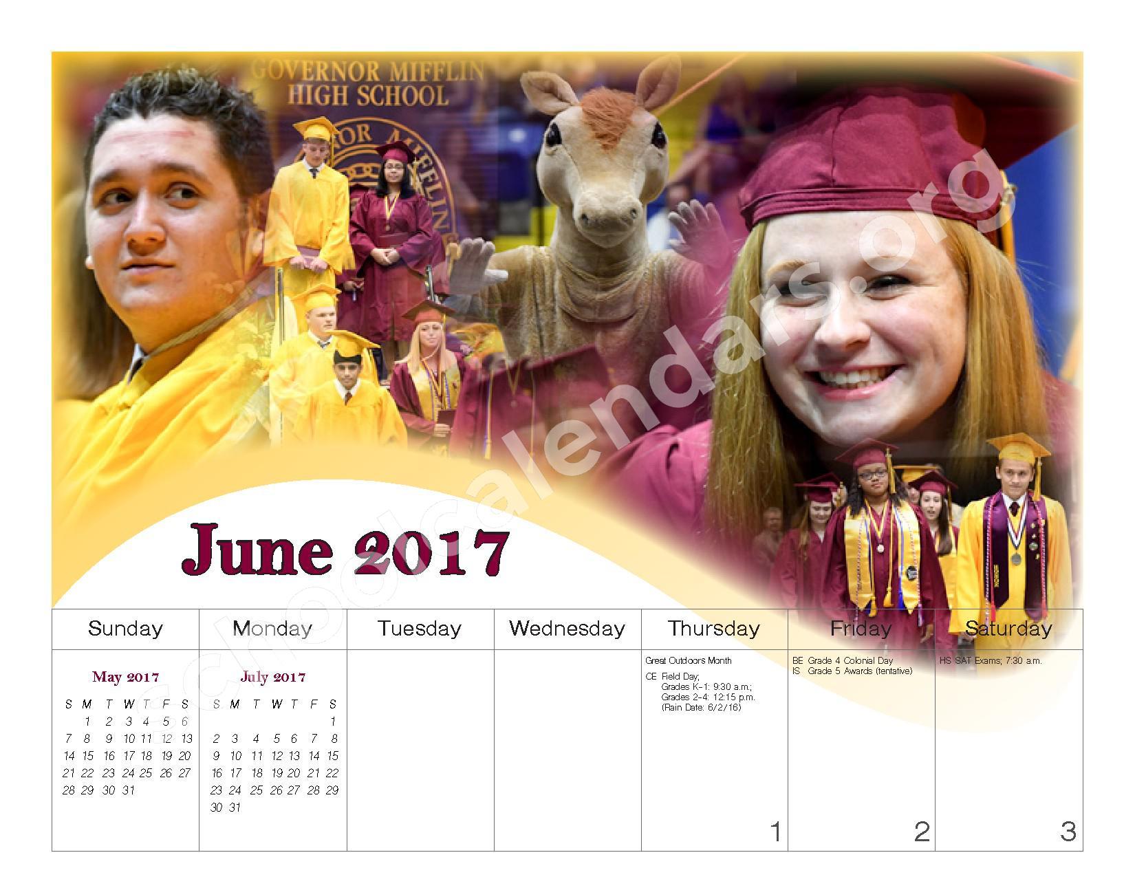 2016 - 2017 School Calendar – Governor Mifflin School District – page 23