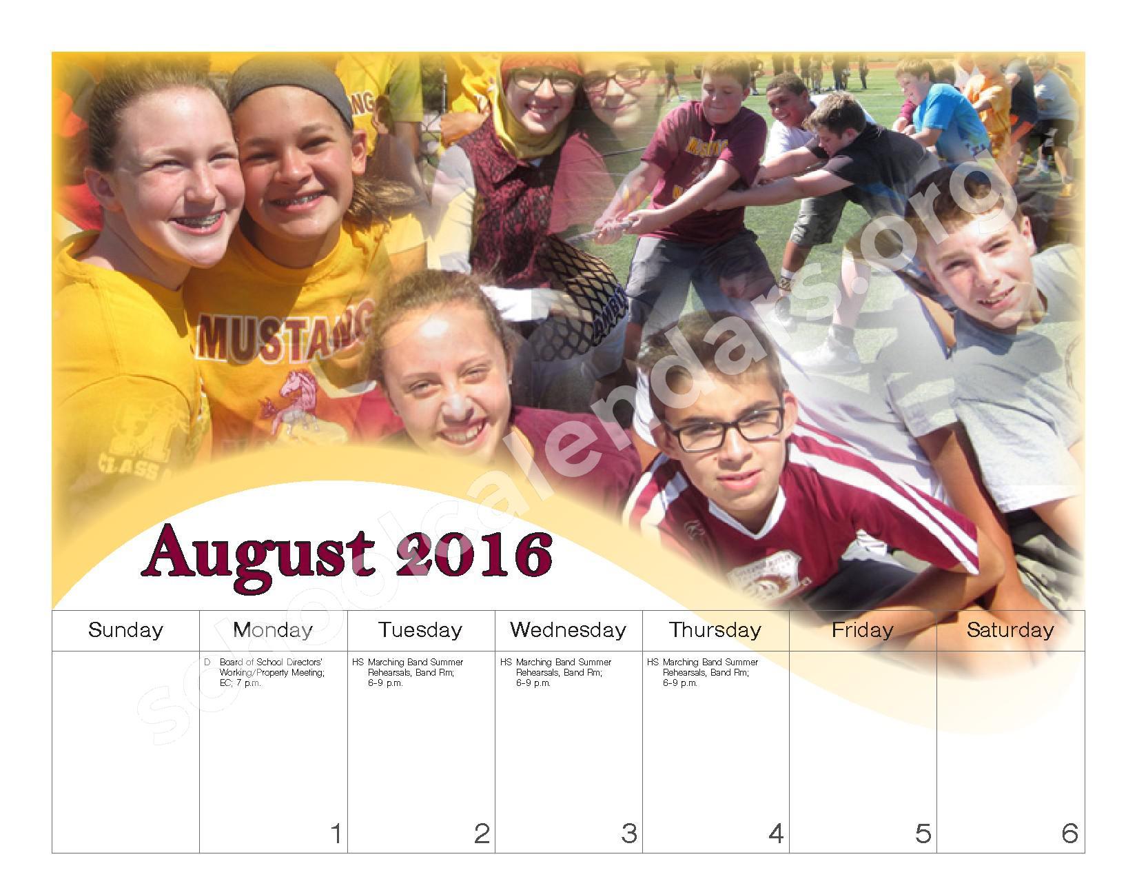 2016 - 2017 School Calendar – Governor Mifflin School District – page 3