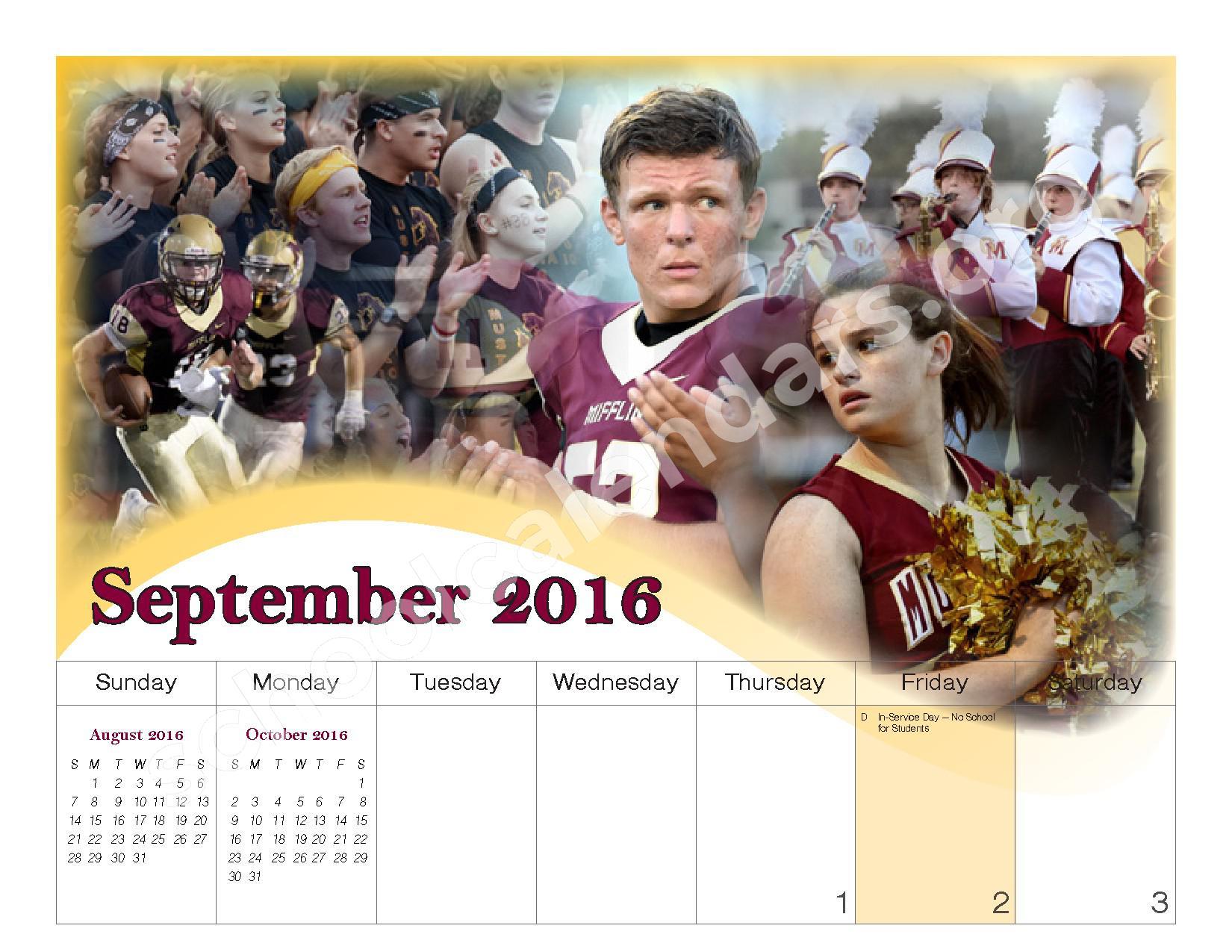 2016 - 2017 School Calendar – Governor Mifflin School District – page 5