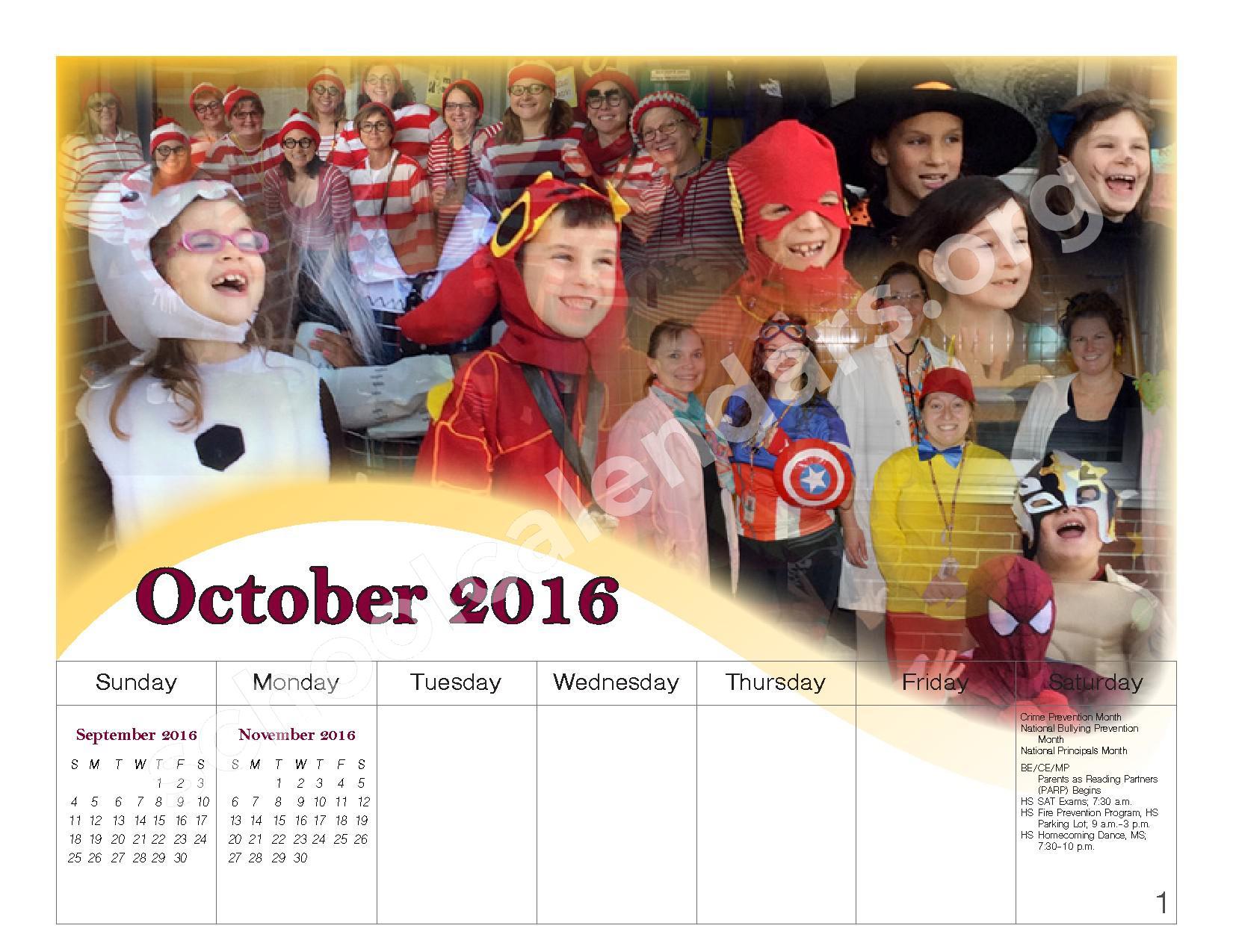 2016 - 2017 School Calendar – Governor Mifflin School District – page 7