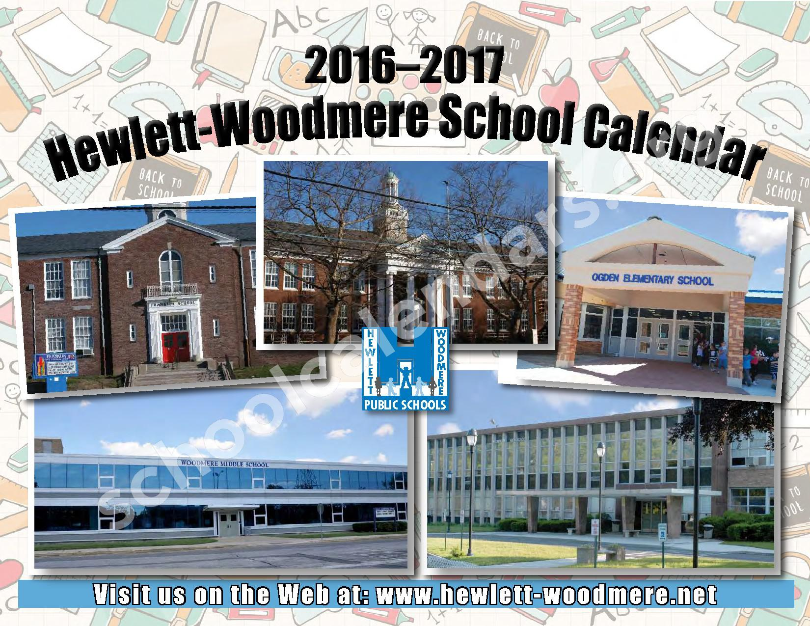 2016 - 2017 District Calendar – Hewlett-Woodmere Union Free School District – page 1
