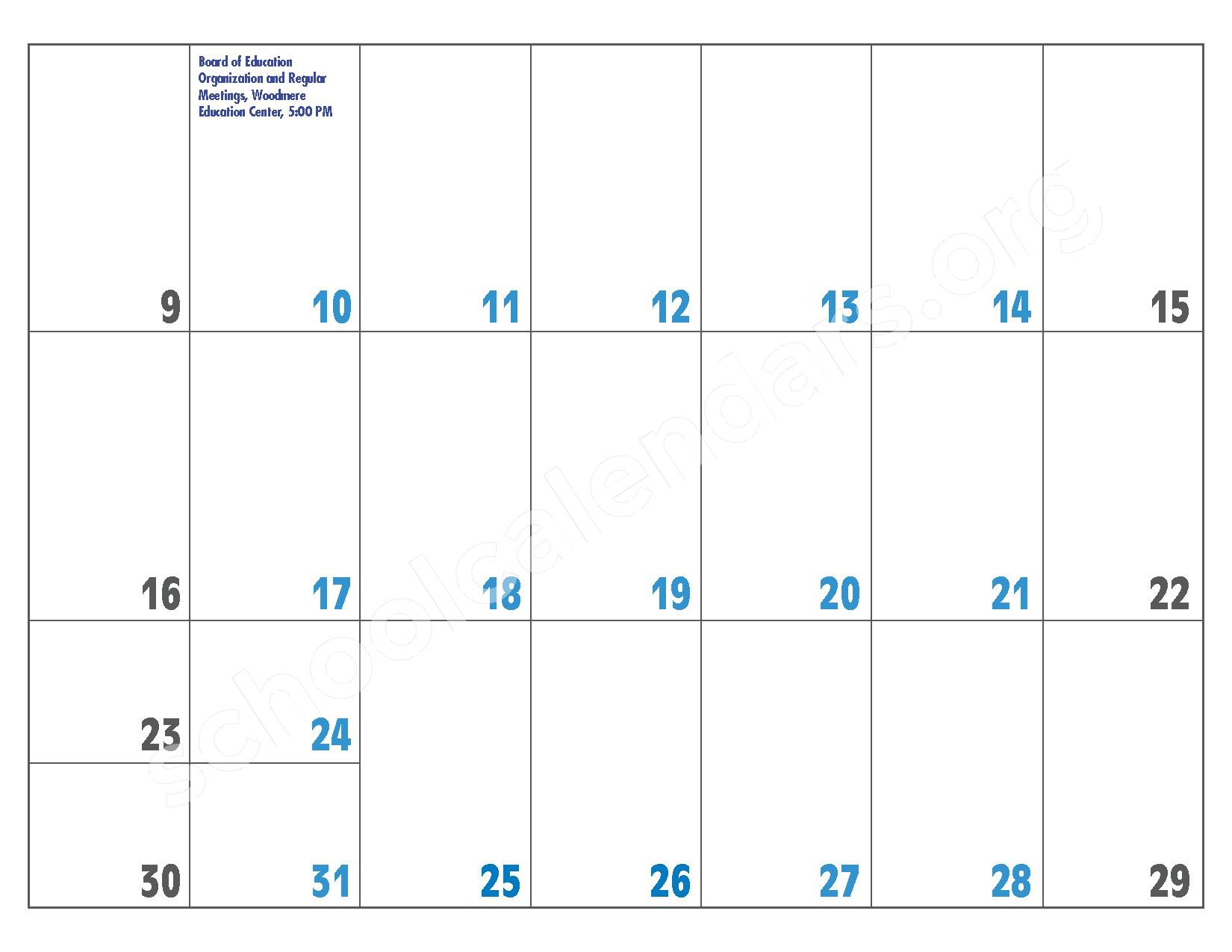 2016 - 2017 District Calendar – Hewlett-Woodmere Union Free School District – page 25